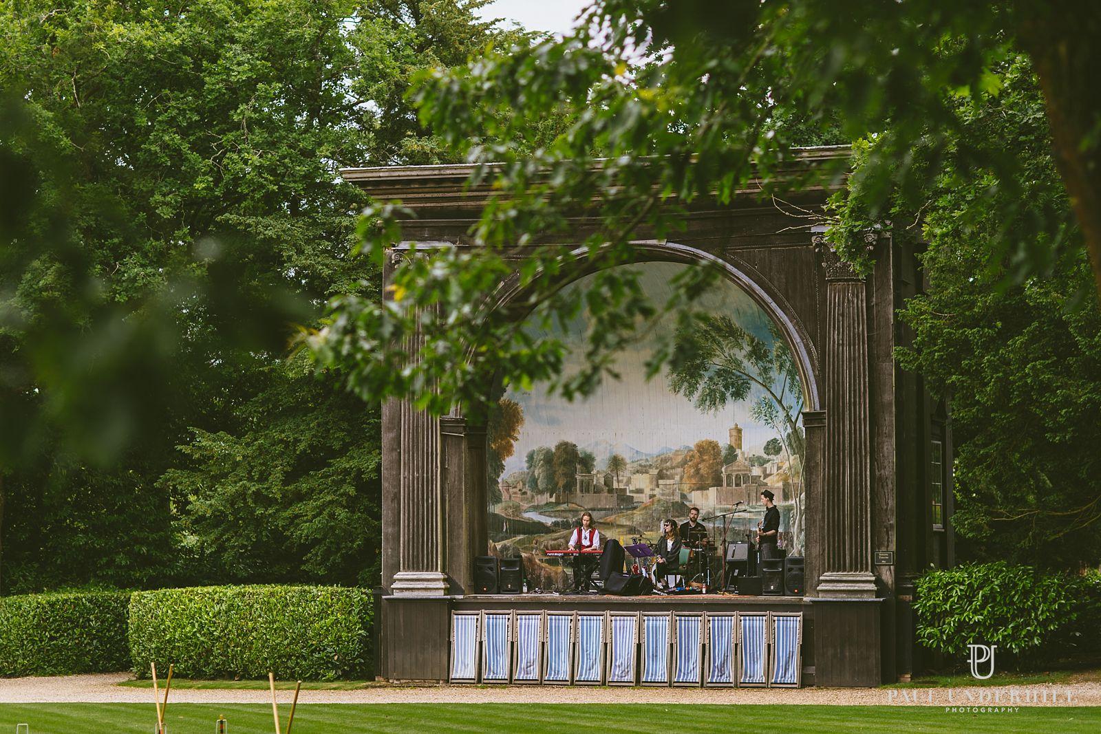 Live music Larmer Tree gardens wedding