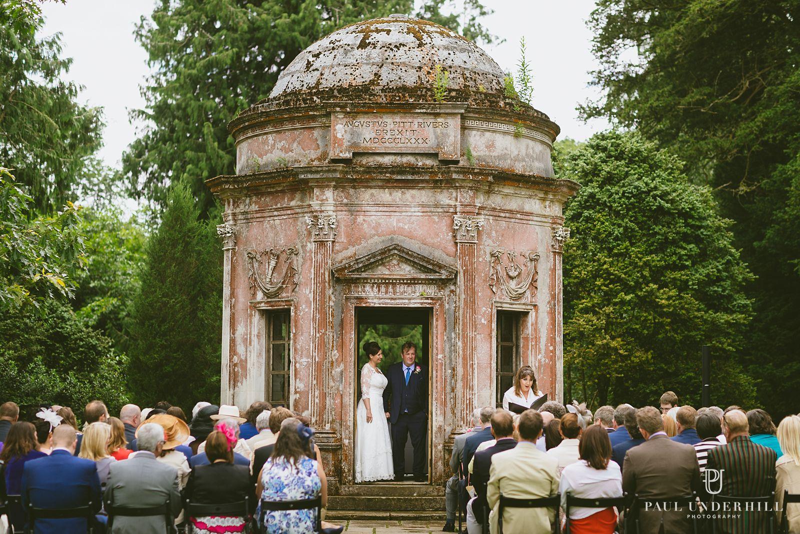 Outdoor wedding at Larmer Tree gardens