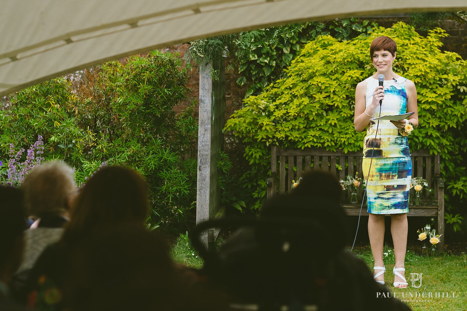 Outdoor wedding ceremony in Dorset