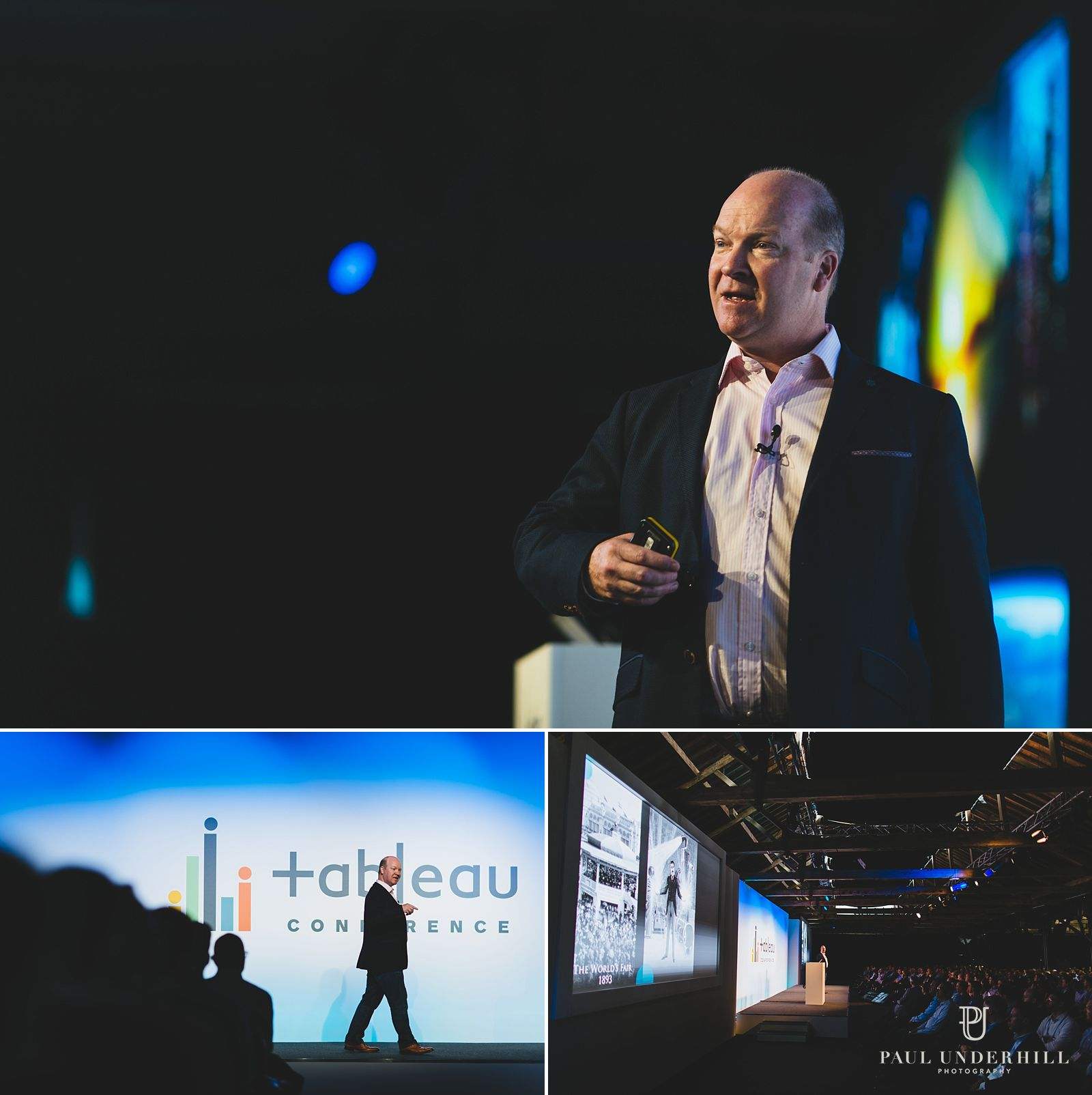 Photography of keynote conference speaker