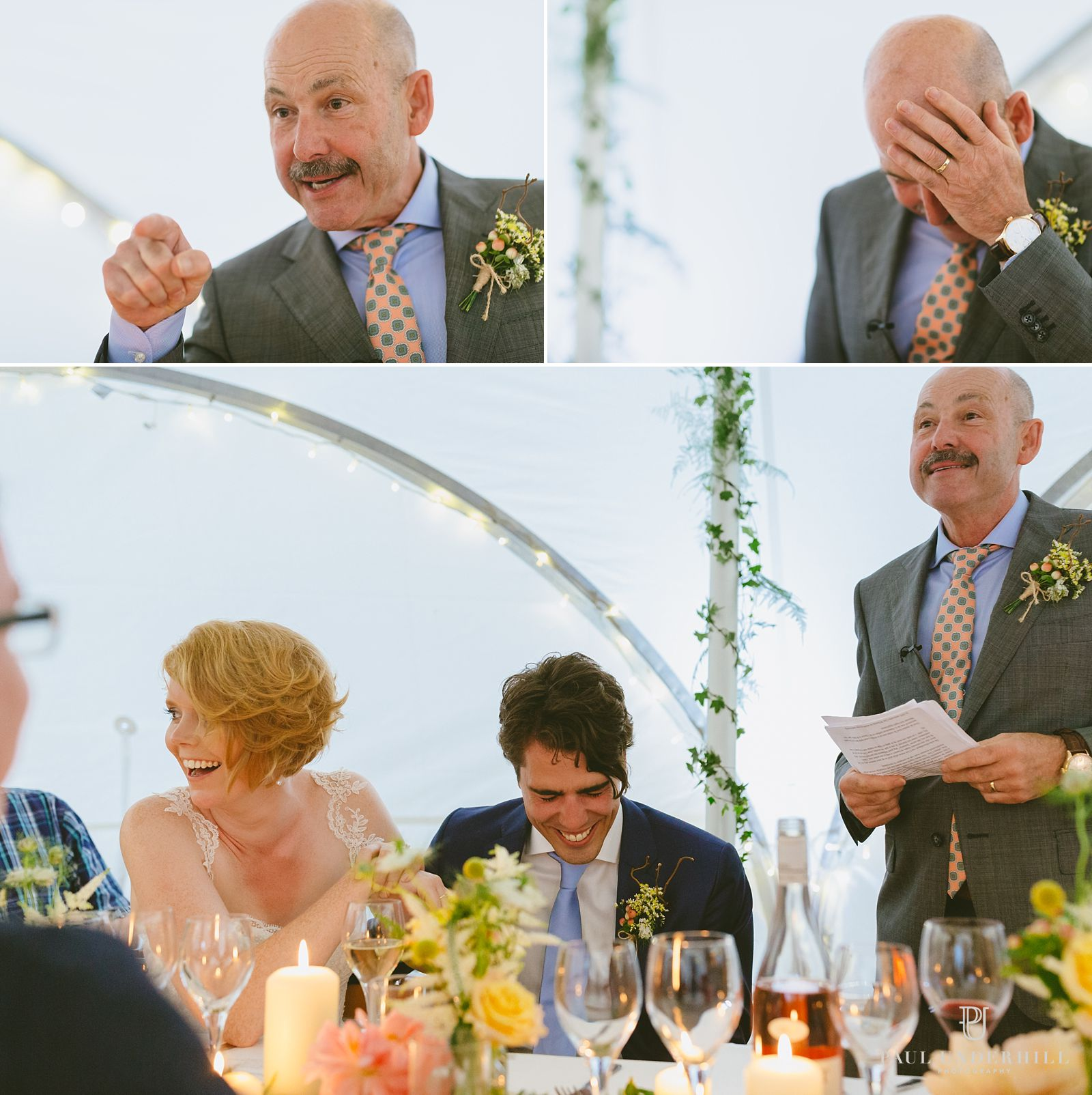 Reportage photography of wedding speech