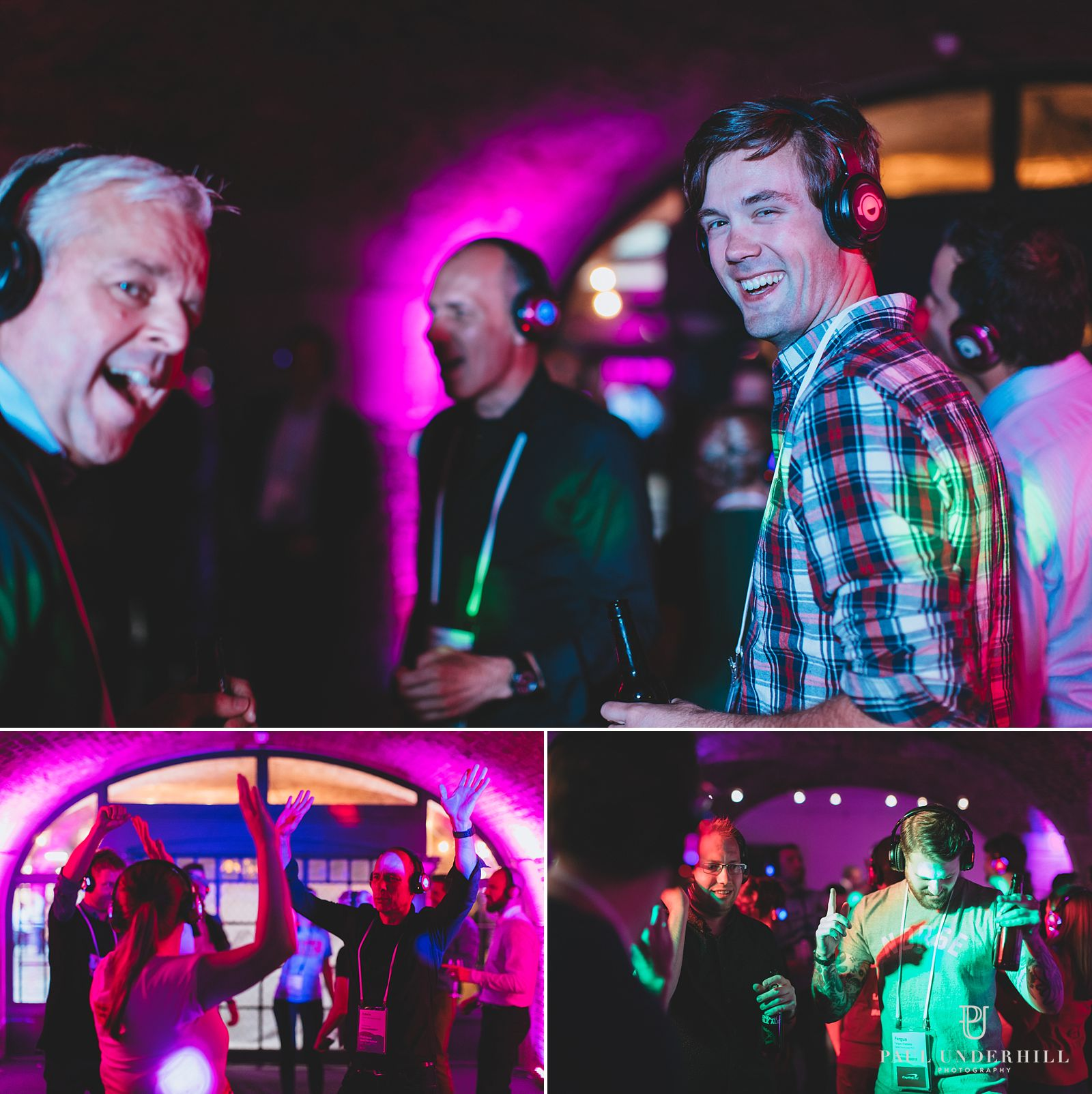 Silent disco at conference Tabacco Dock
