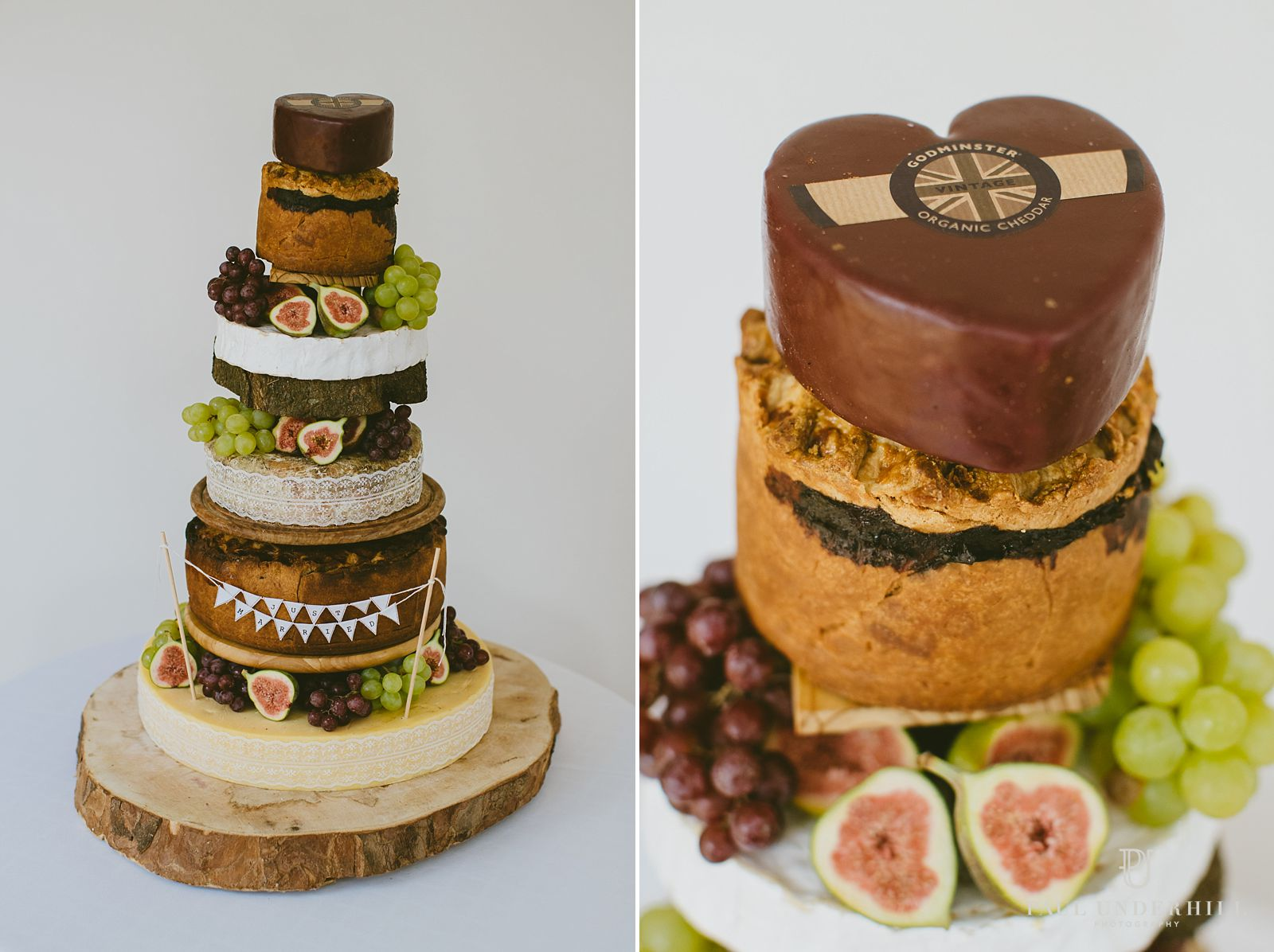 Wedding cake made of cheese and pork pies