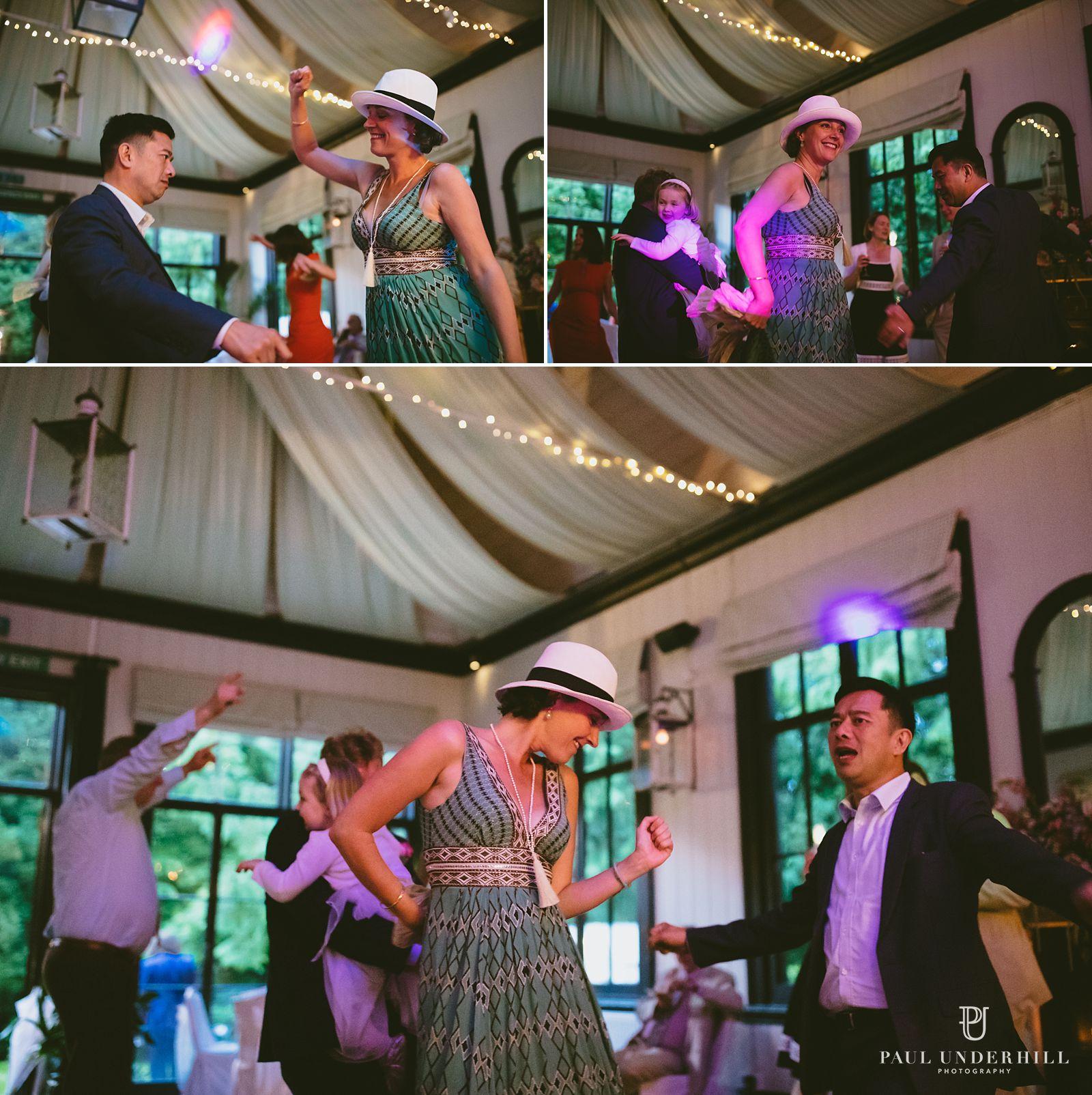 Wedding documentary guests dancing
