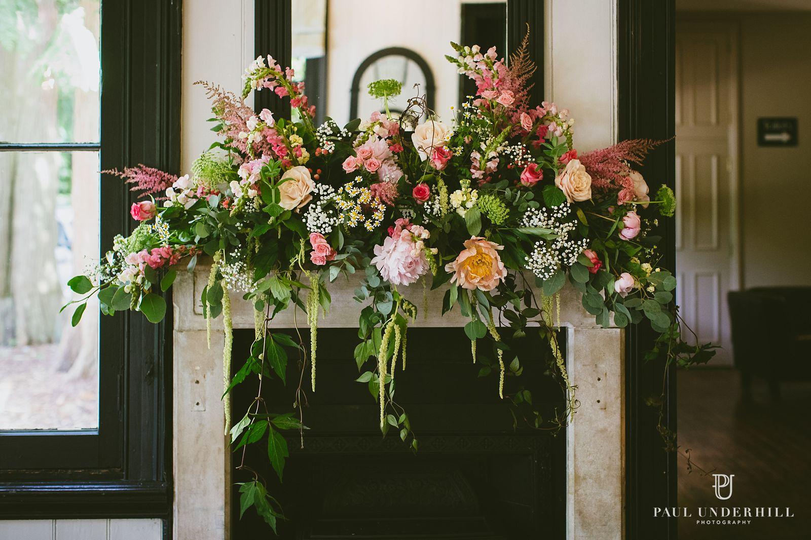 Wedding flowers Larmer Tree gardens