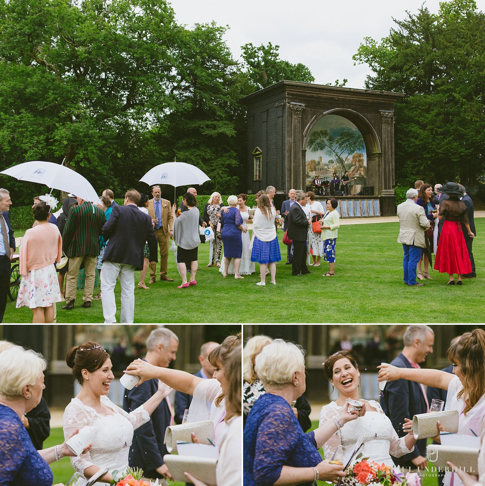 Wedding reception at Larmer Tree gardens