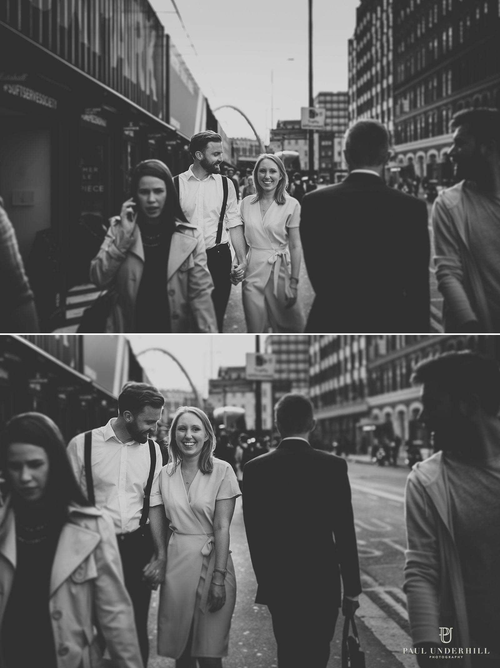 Candid portraits on streets of London