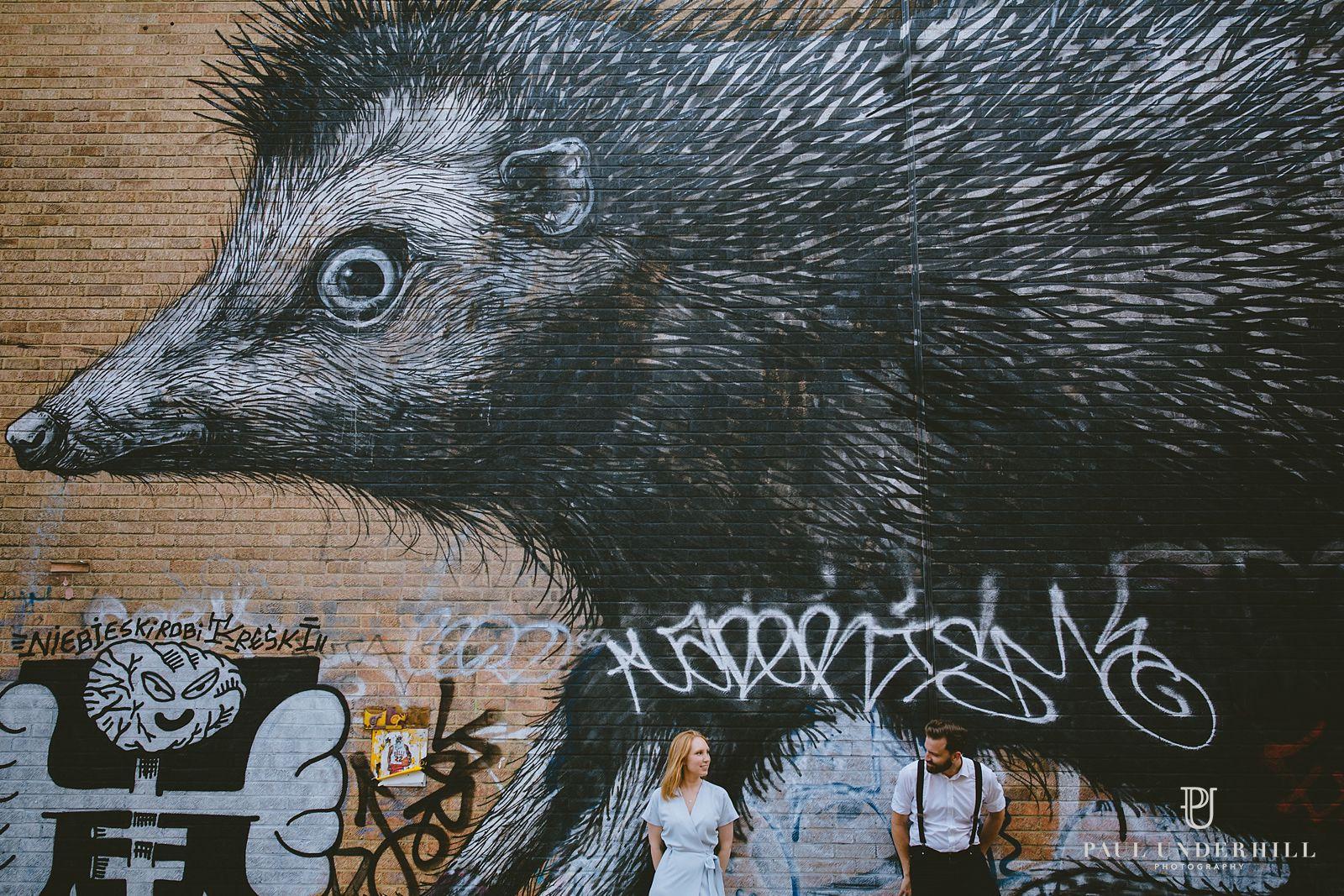 Street art portraits London