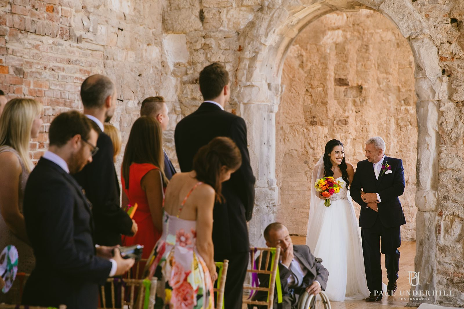 bride-and-dad-lulworth-castle-wedding