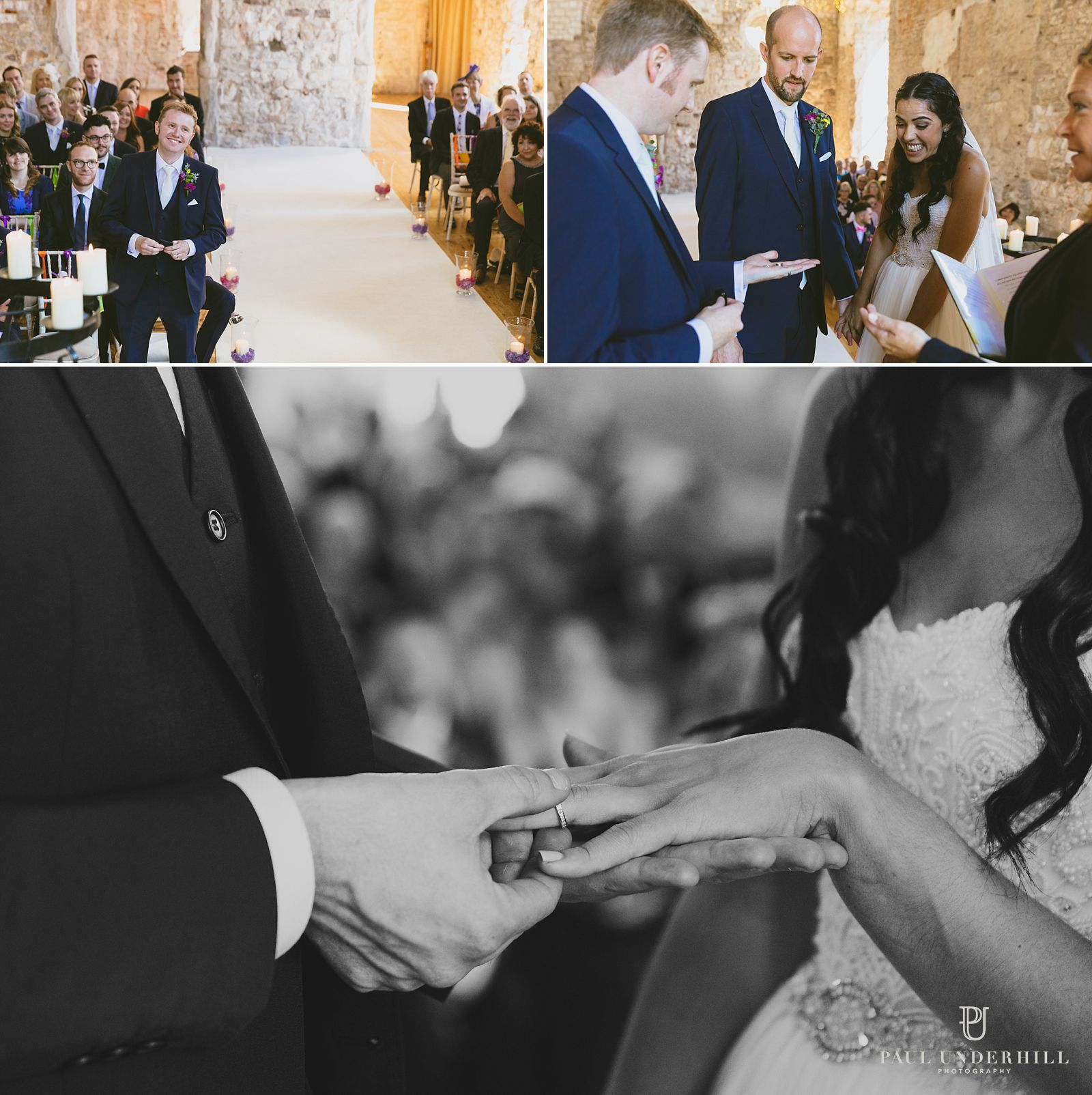 exchange-of-rings-lulworth-castle-wedding