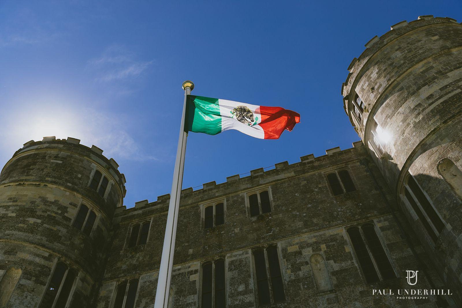 flag-outside-lulworth-castle