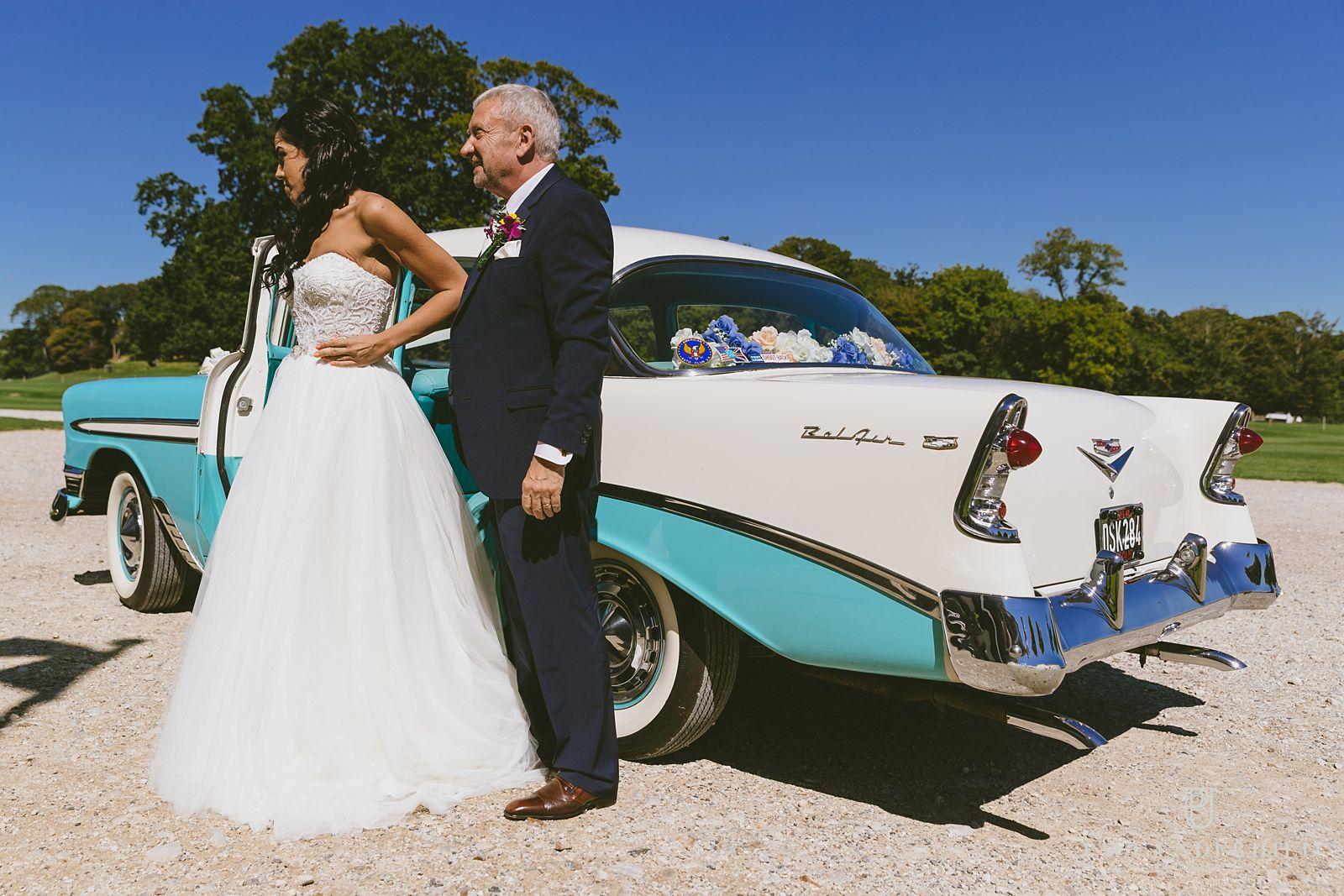 lulworth-castle-wedding-bride-arrives