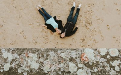 Boscombe Pier pre-wedding shoot with Carly+Stephen | Dorset wedding photographers