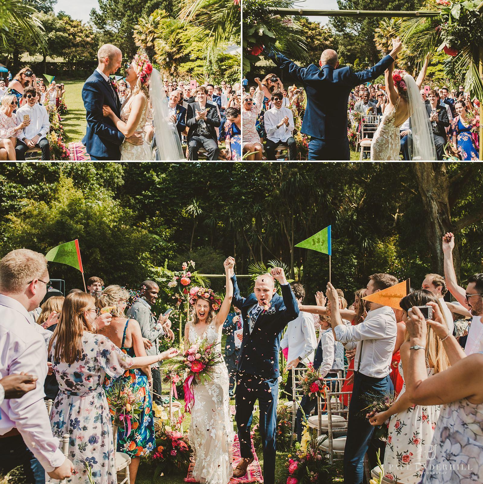 Abbotsbury Subtropical Gardens wedding photography in Dorset