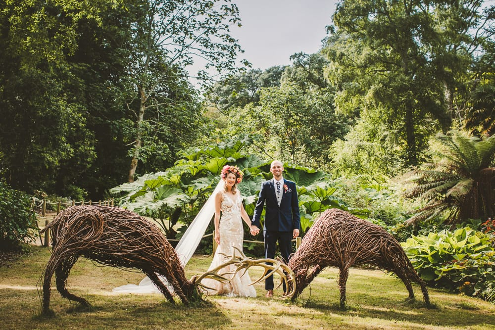 Wedding photography in Dorset of festival themed wedding