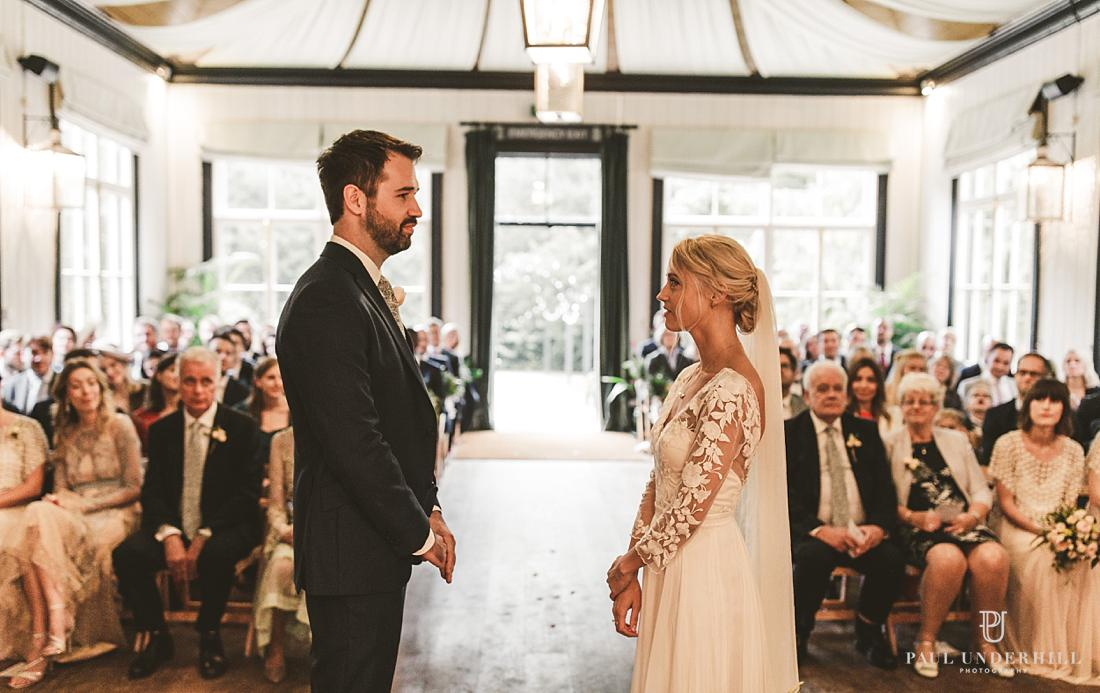 Larmer Tree Gardens autumn wedding ceremony