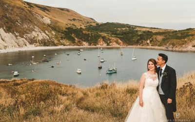 Lulworth Cove wedding photography Dorset | Louise+Q