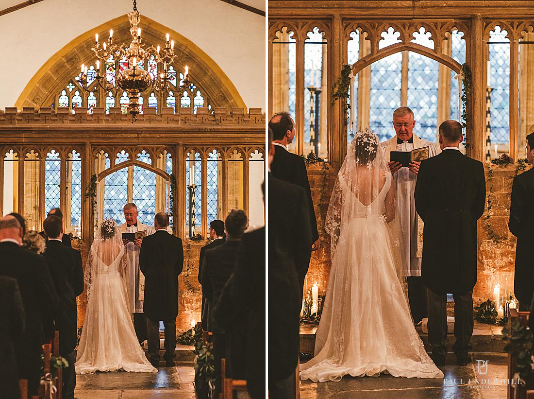 Dorset traditional church winter wedding