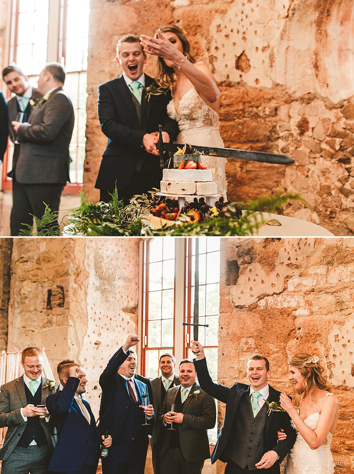 Cake cutting Lulworth Castle