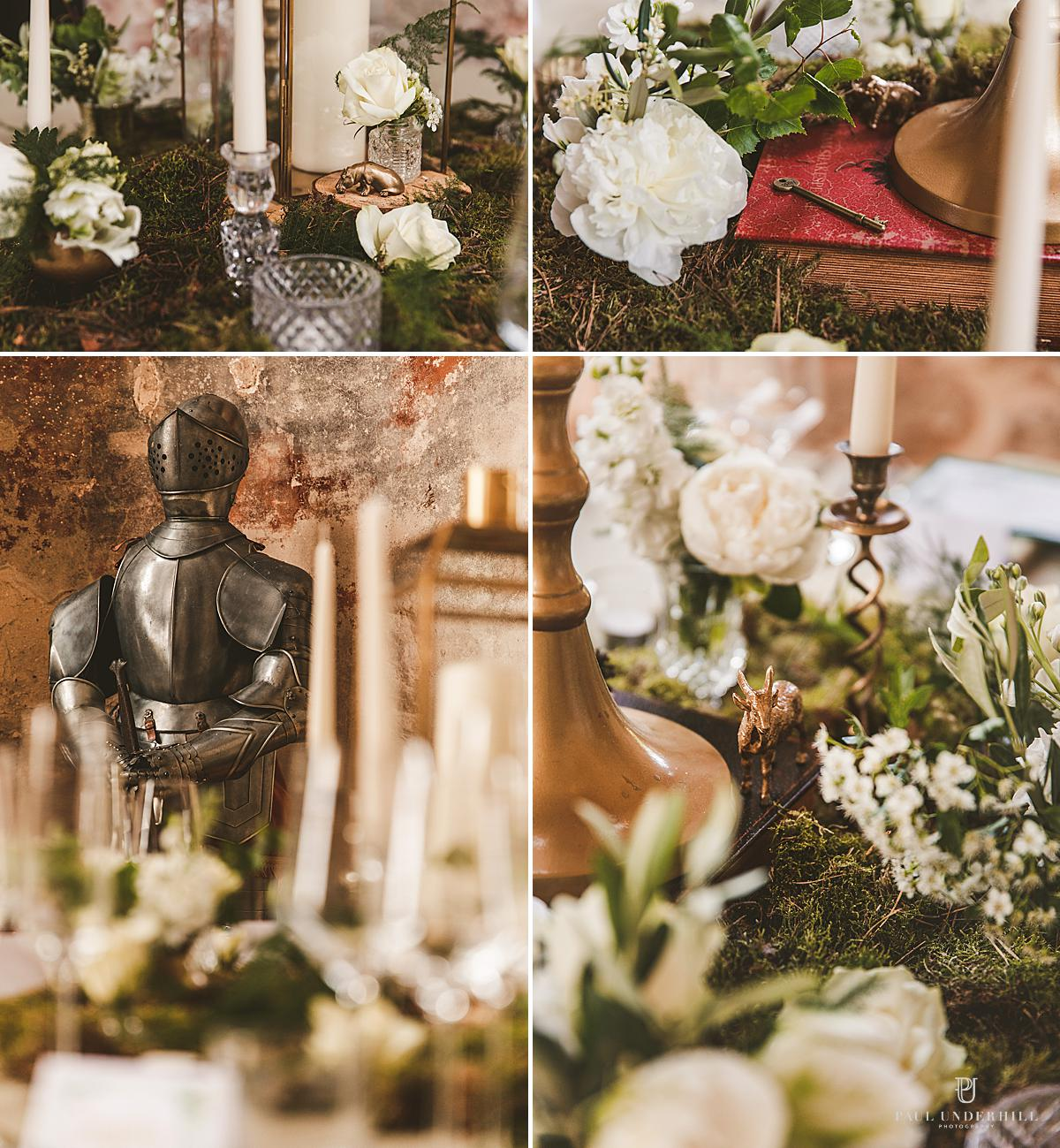 Lulworth Castle wedding decorations