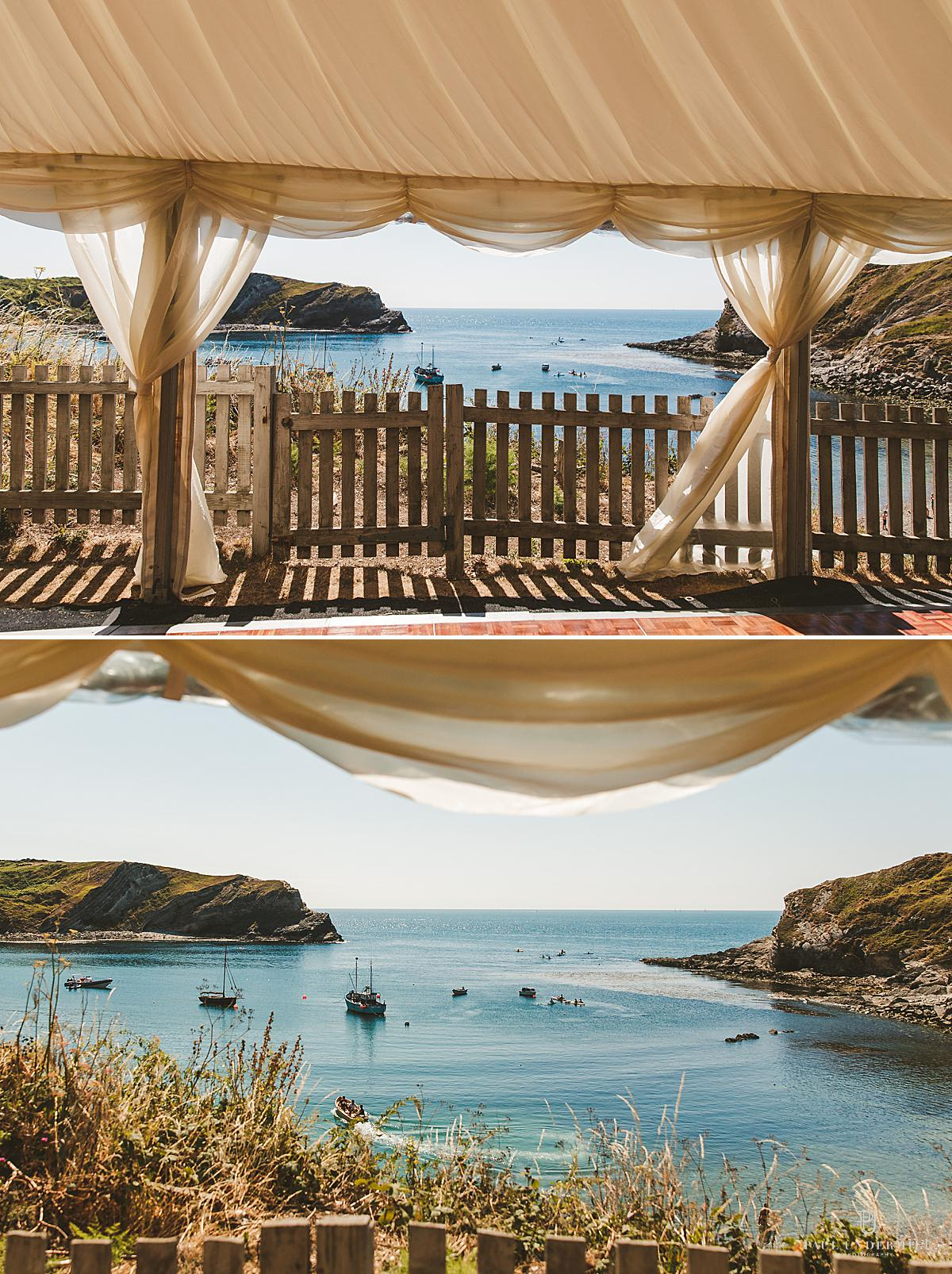 Lulworth Cove wedding photography Dorset