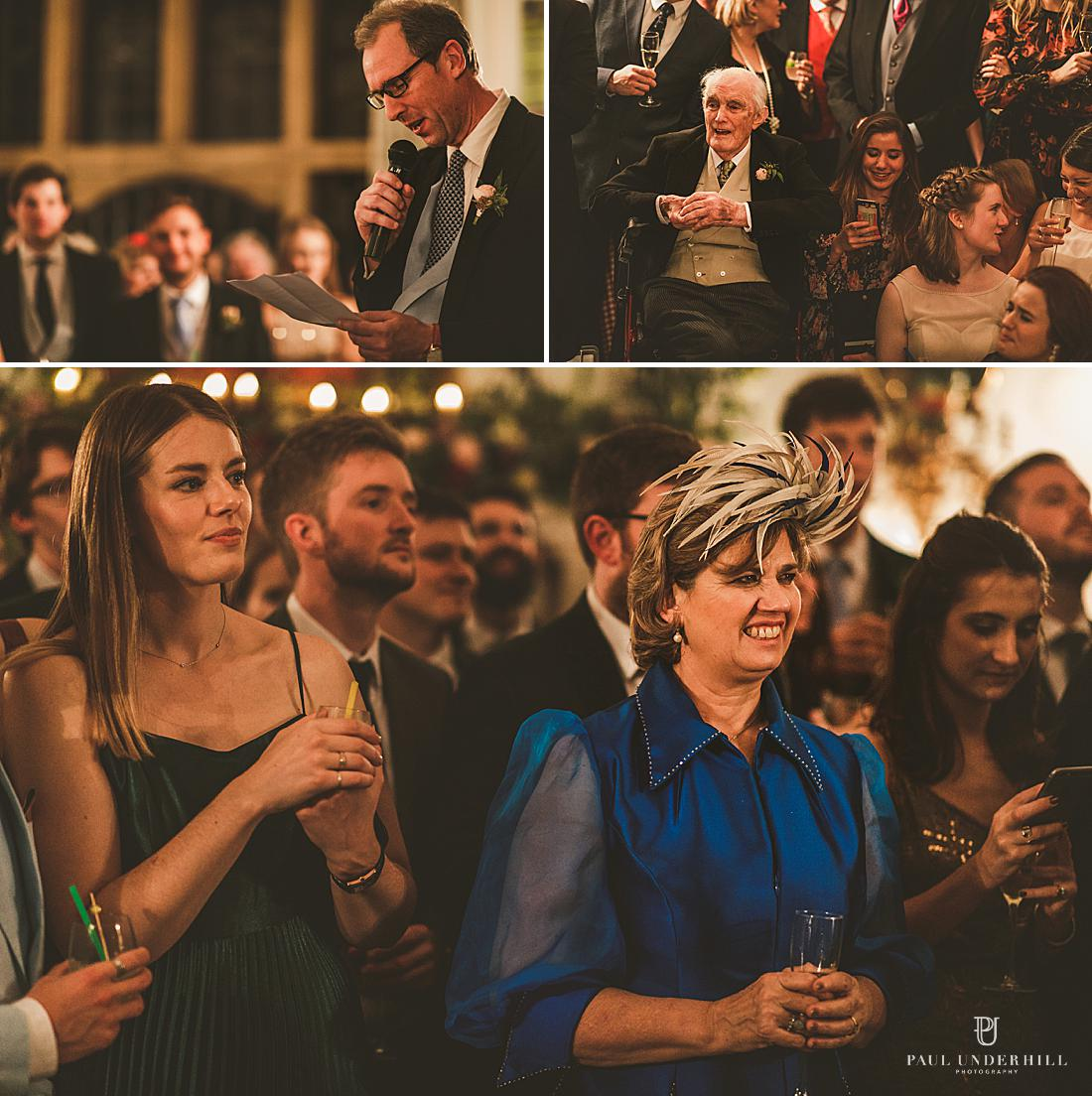 Documentary photography wedding speeches Dorset