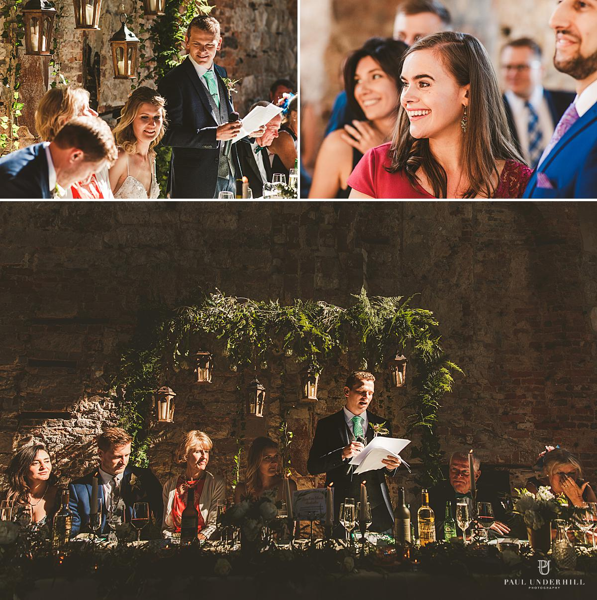 Wedding speeches Lulworth Castle