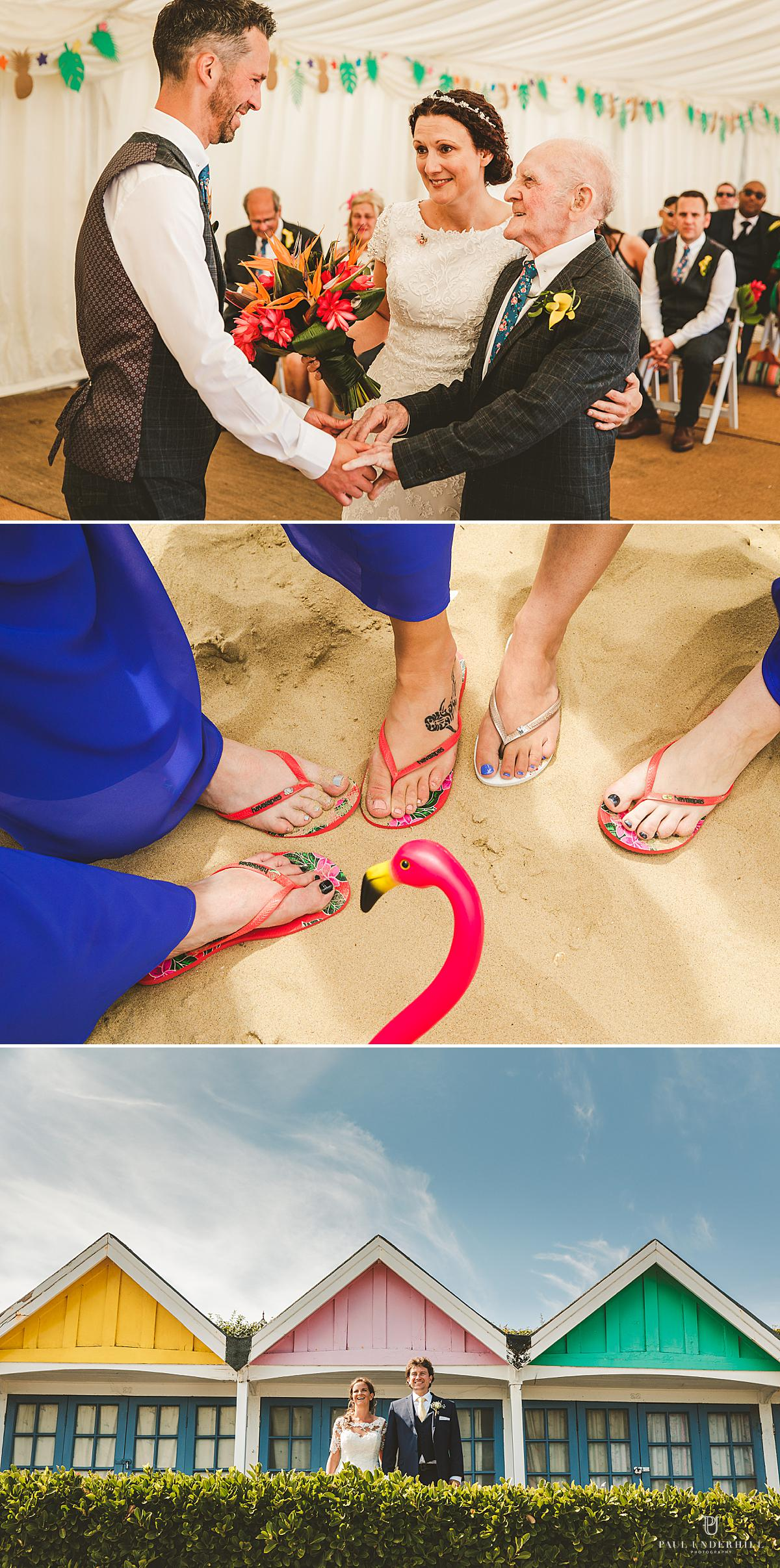 Beach weddings photographer Bournemouth