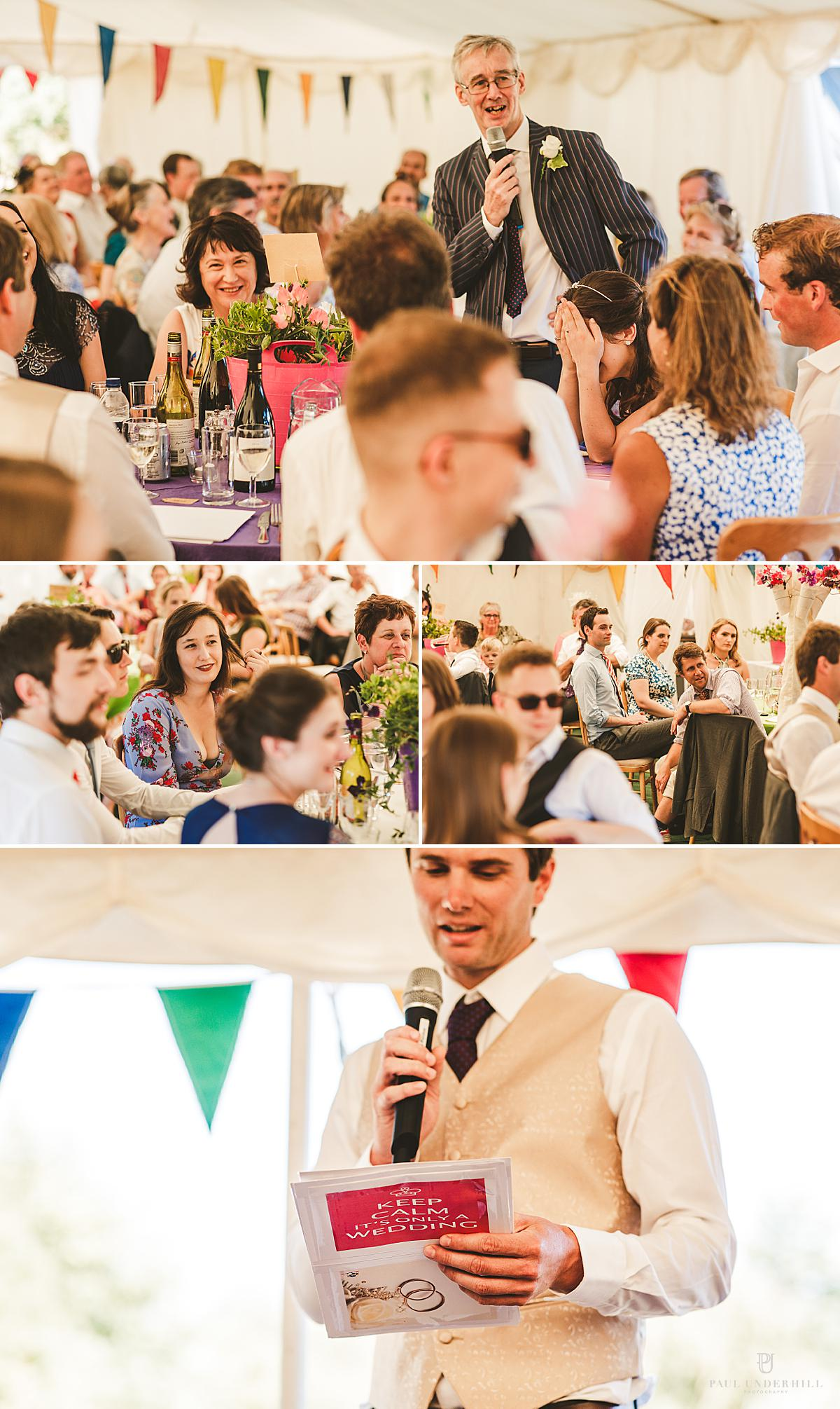 Dorset wedding marquee reception