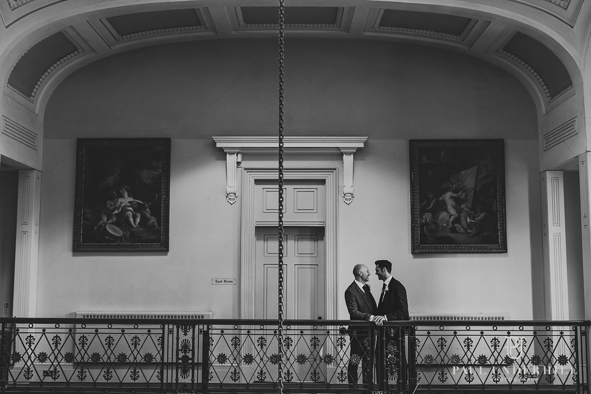 Gay wedding photography portraits of grooms