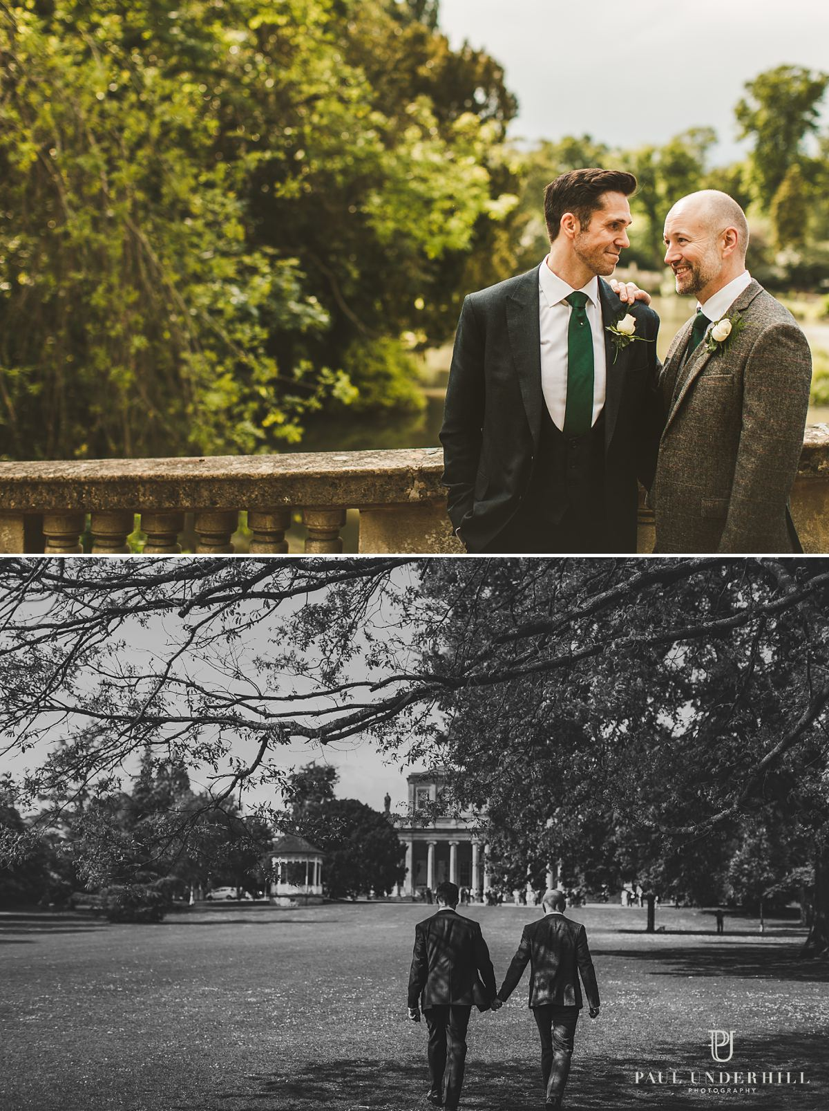 Gay wedding portraits London photographers