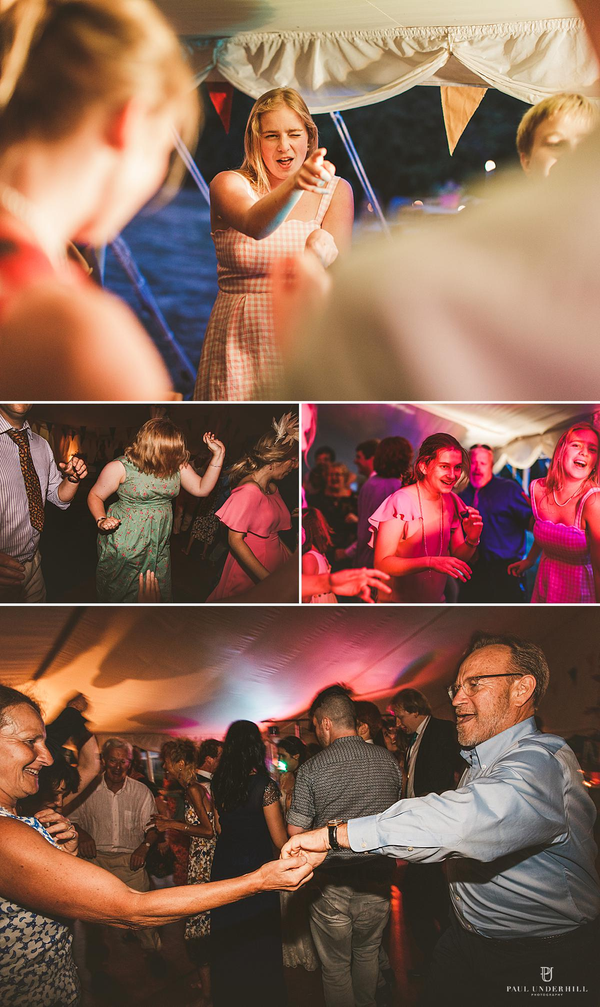 Marquee wedding reception Dorset