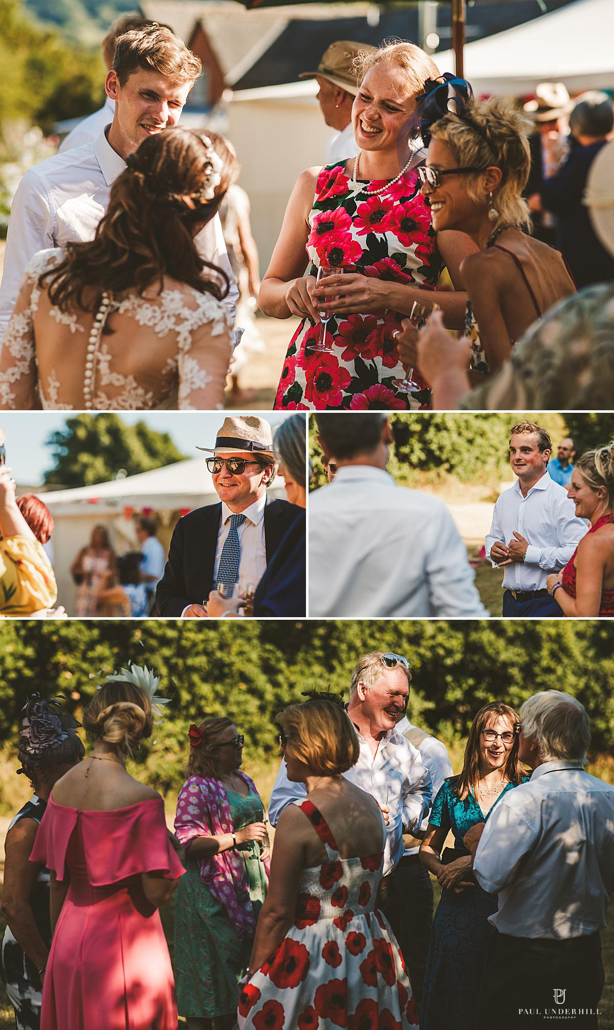 Outdoor summer Dorset wedding photography