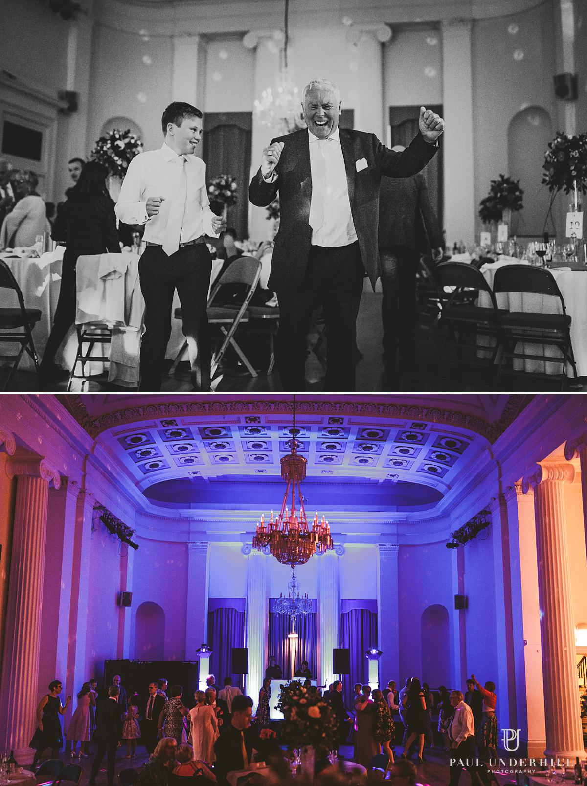 Pittville Pump Room wedding reception photography