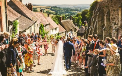 Alternative outdoor wedding Gold Hill Dorset | Dorset wedding photography