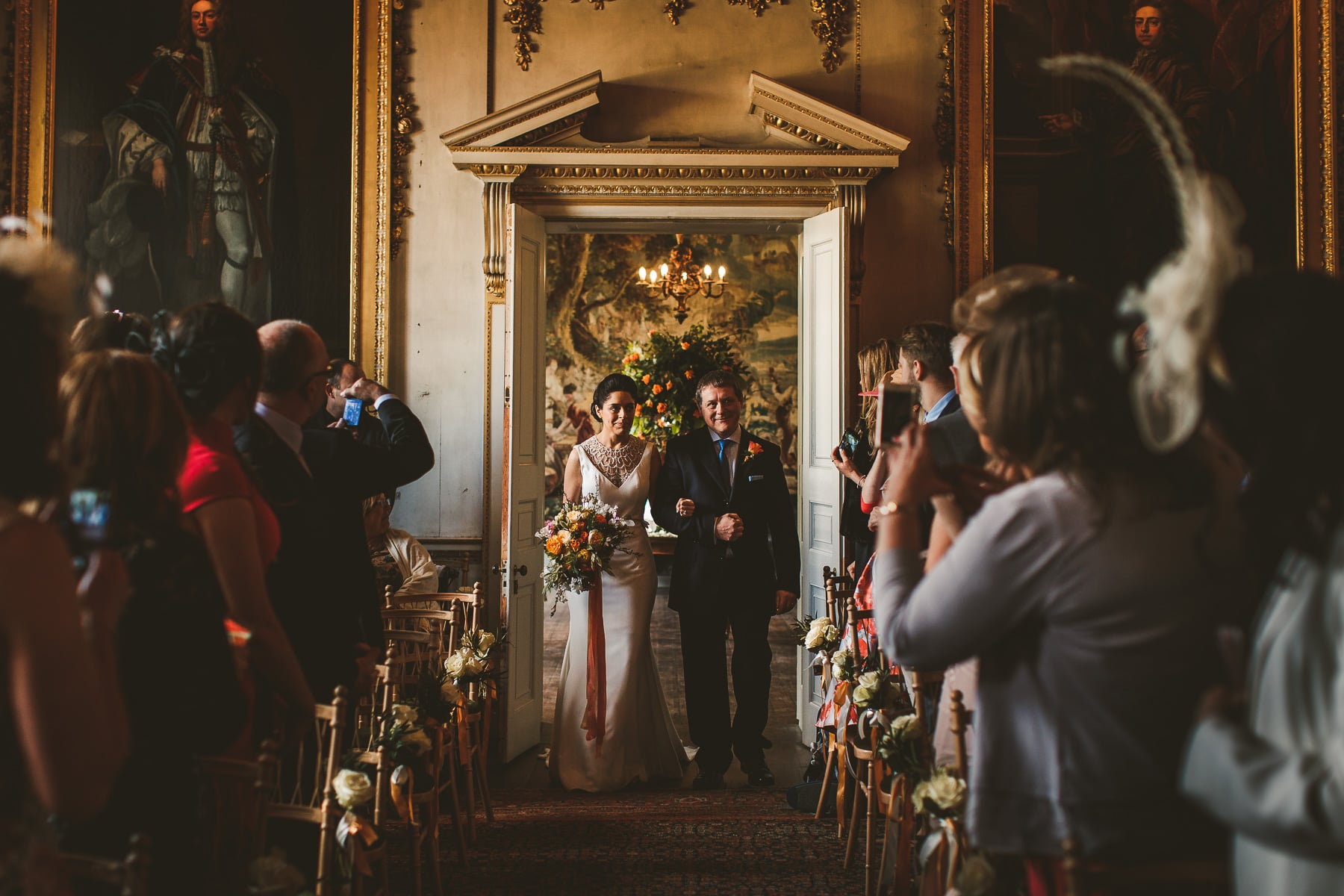Wedding-ceremony-at-St-Giles-House-in-Dorset