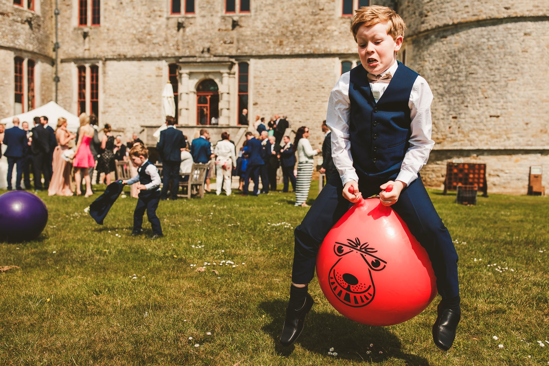 Lawn-games-Lulworth-Castle-wedding-photography