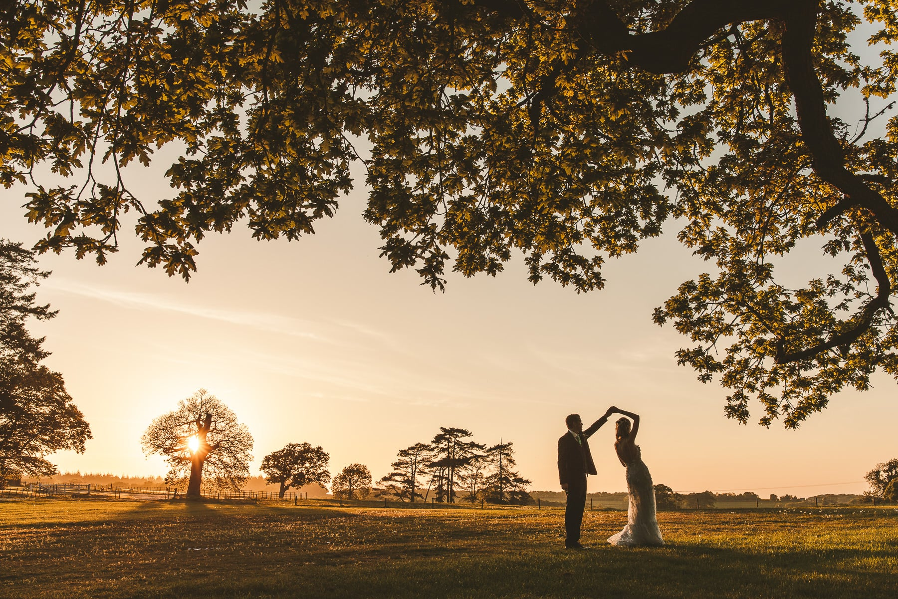 Sunset-portrait-Lulworth-Castle-wedding-Dorset