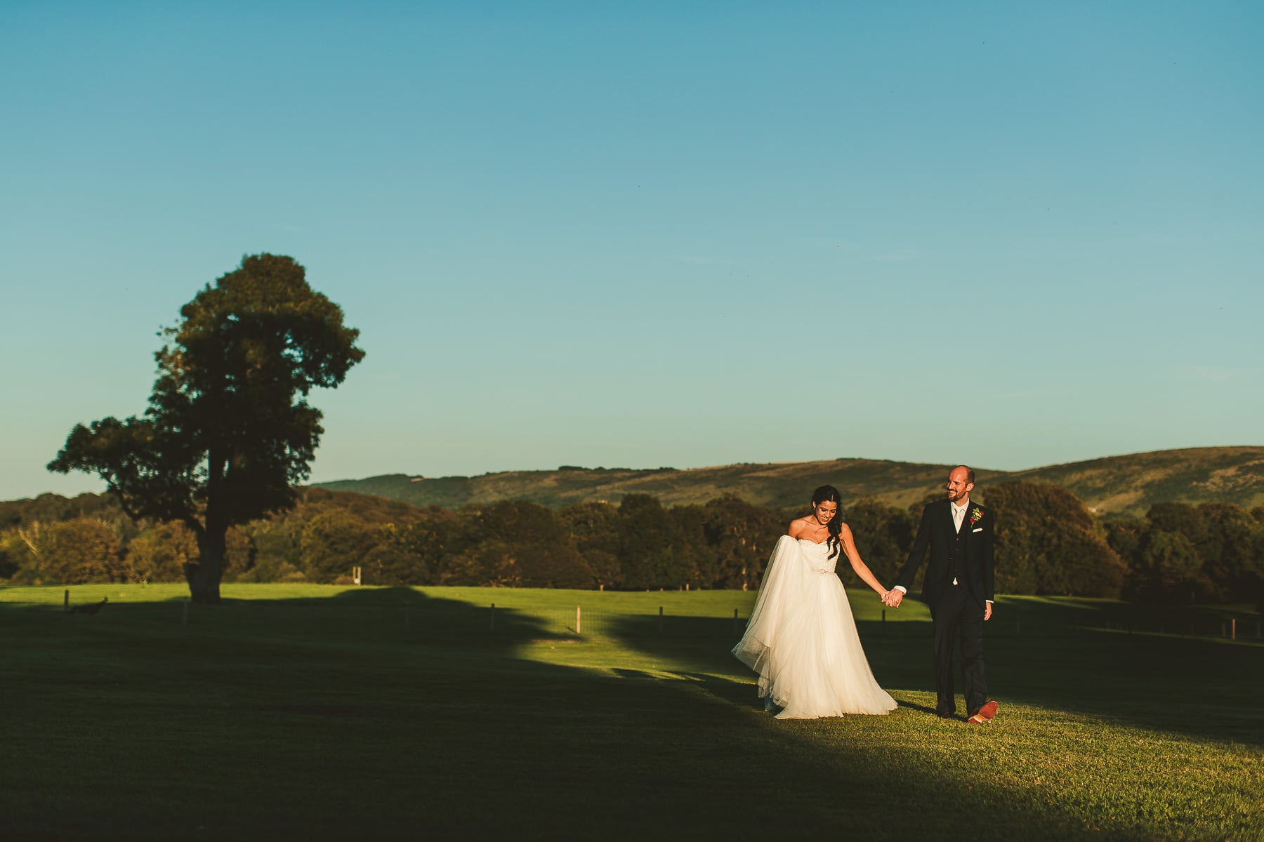Sunset-wedding-portrait-Lulworth-Castle-Dorset