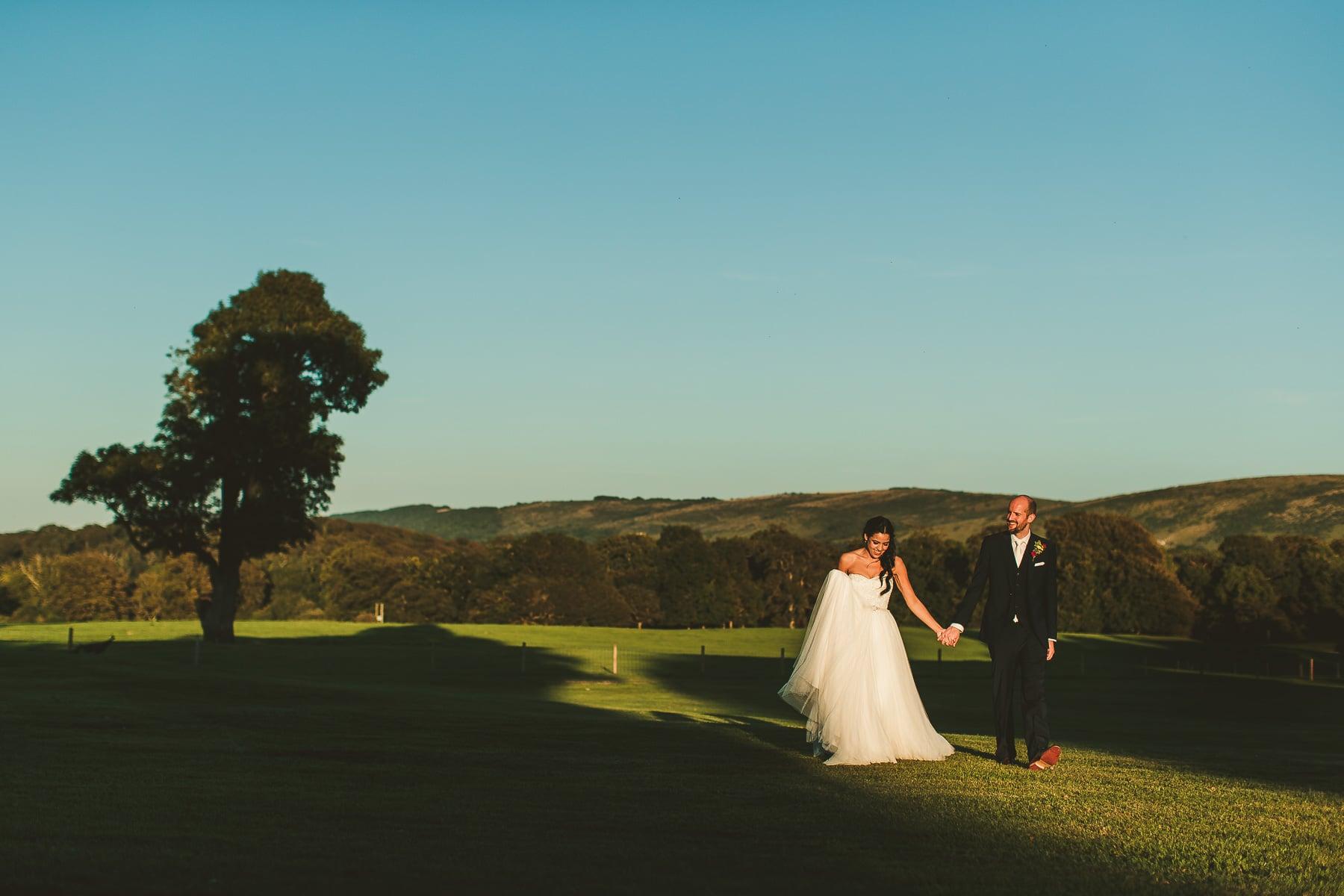 Sunset-wedding-portrait-Lulworth-Castle-Dorset