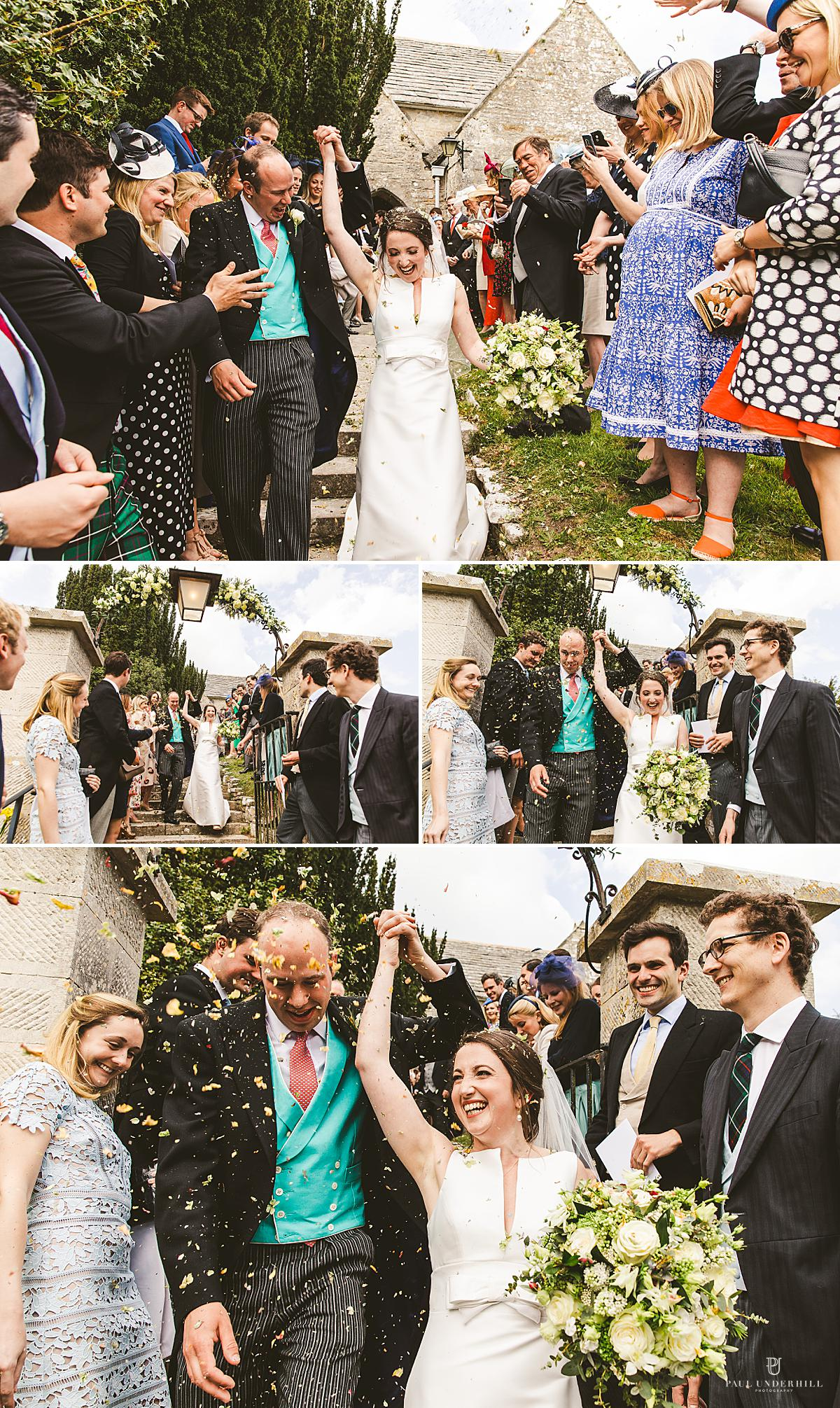 Confetti fun moments wedding photography