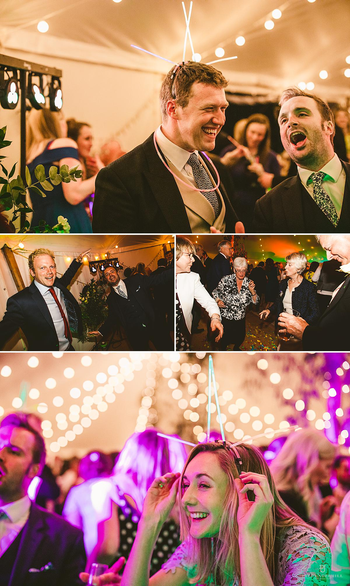 Fun wedding reception photography Smedmore House