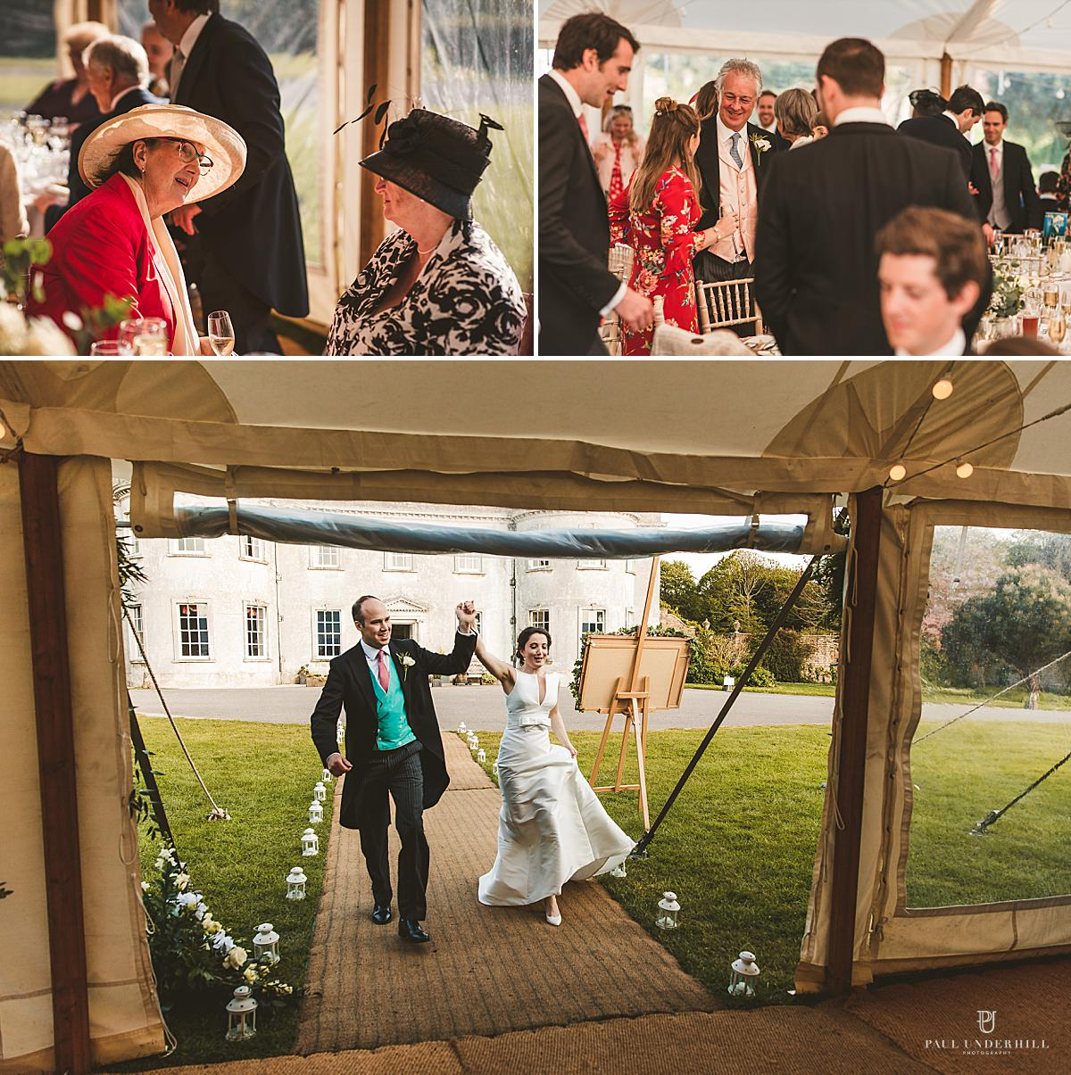 Marquee wedding reception Smedmore House