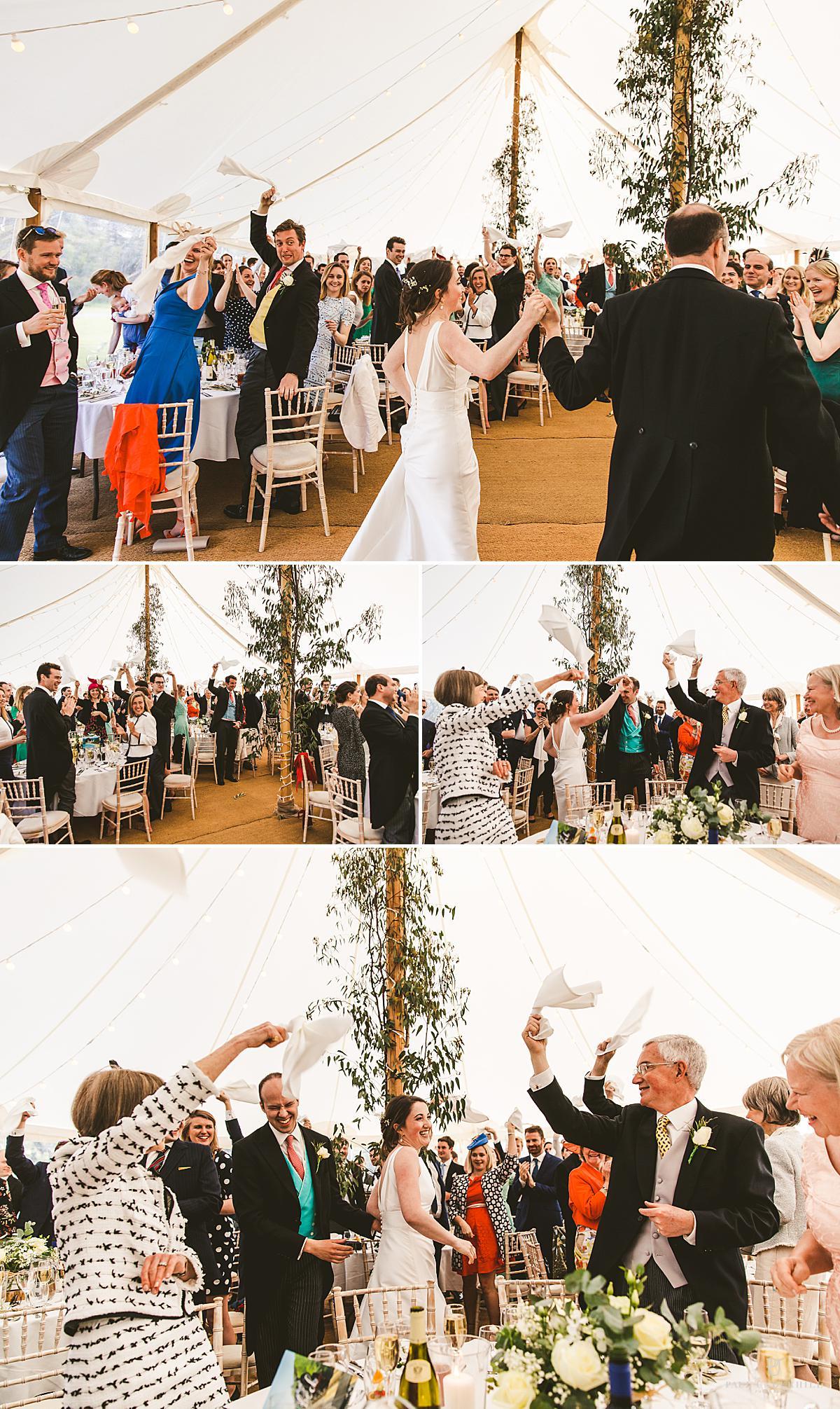 Marquee wedding reception Smedmore House