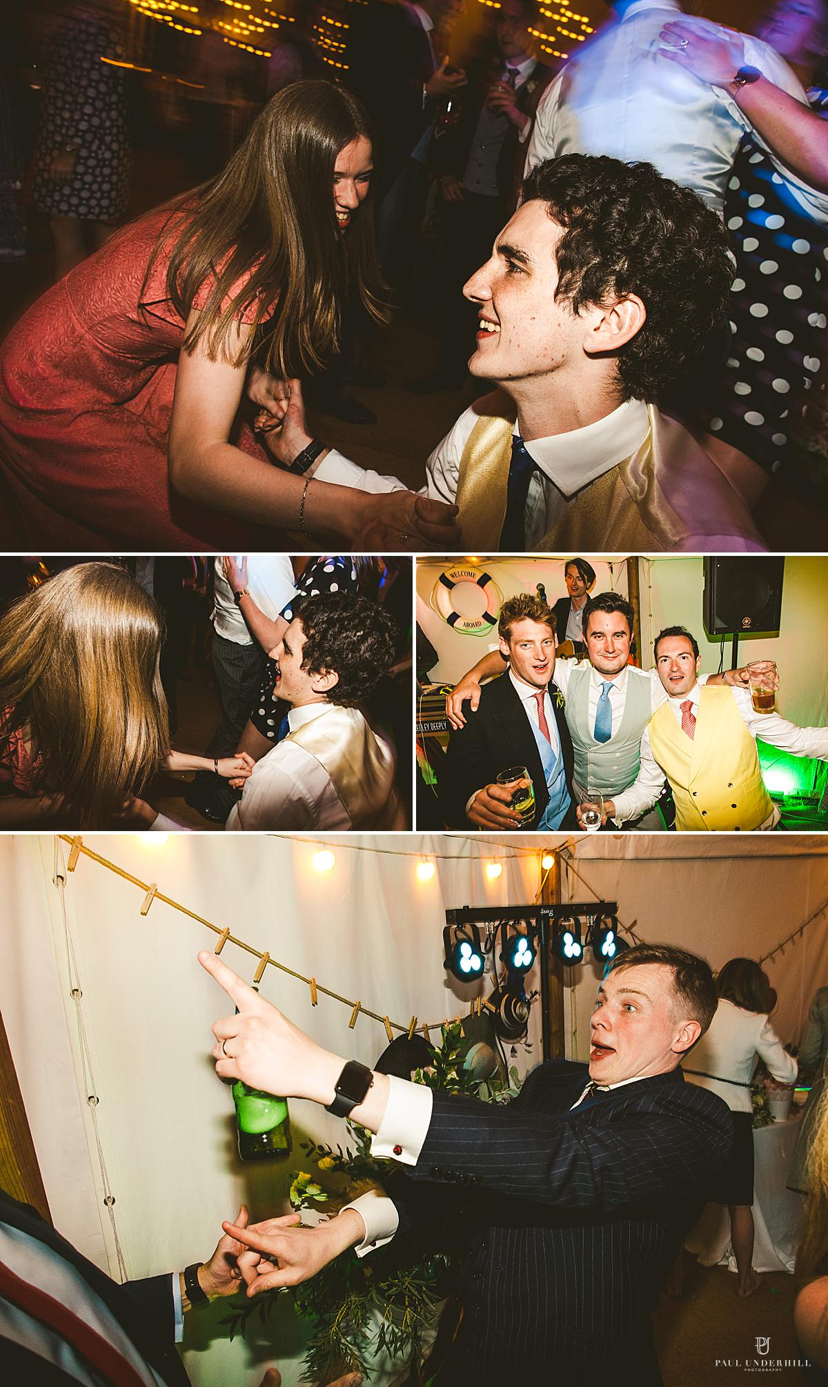 Wedding photography party antics