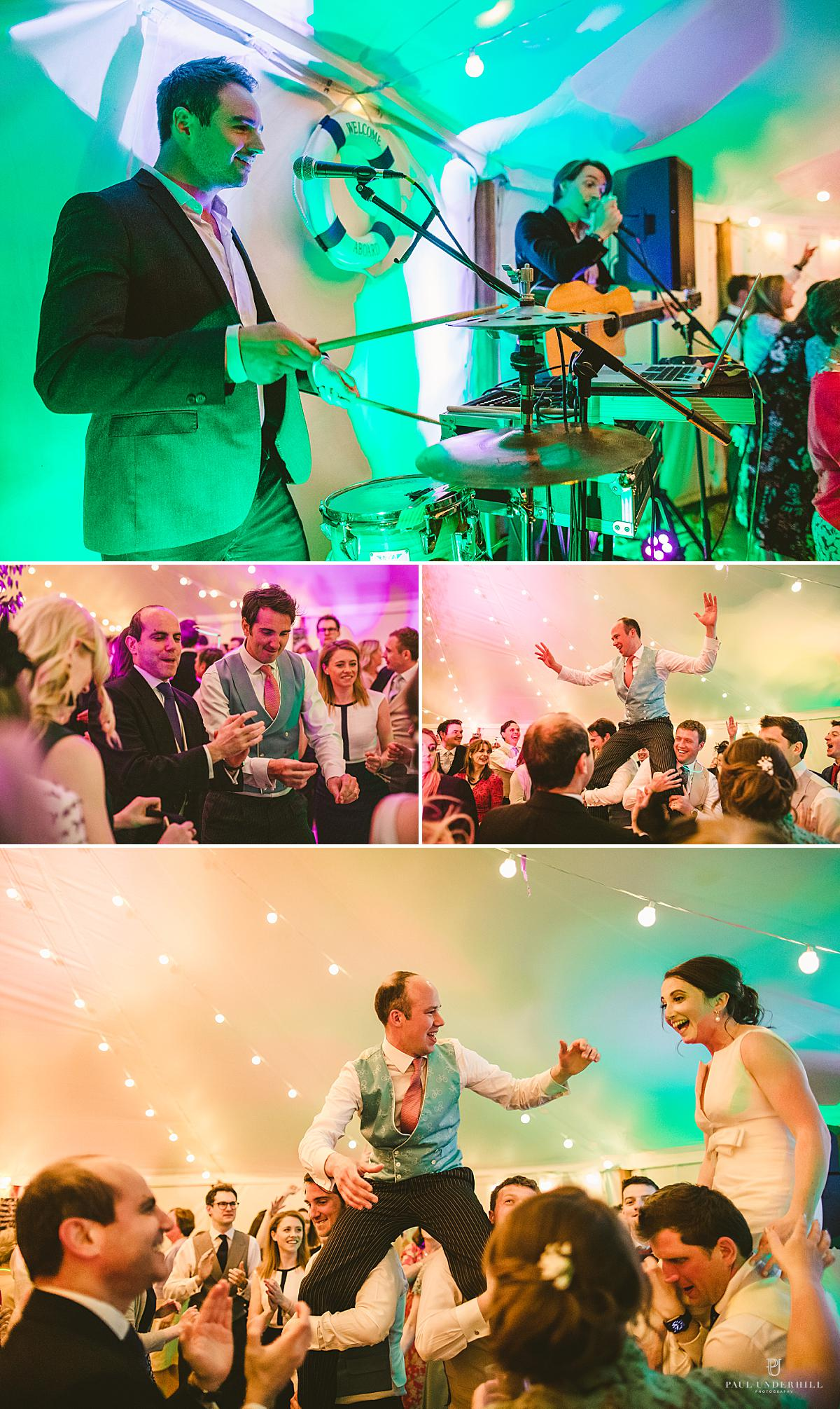 Reportage wedding photography party antics