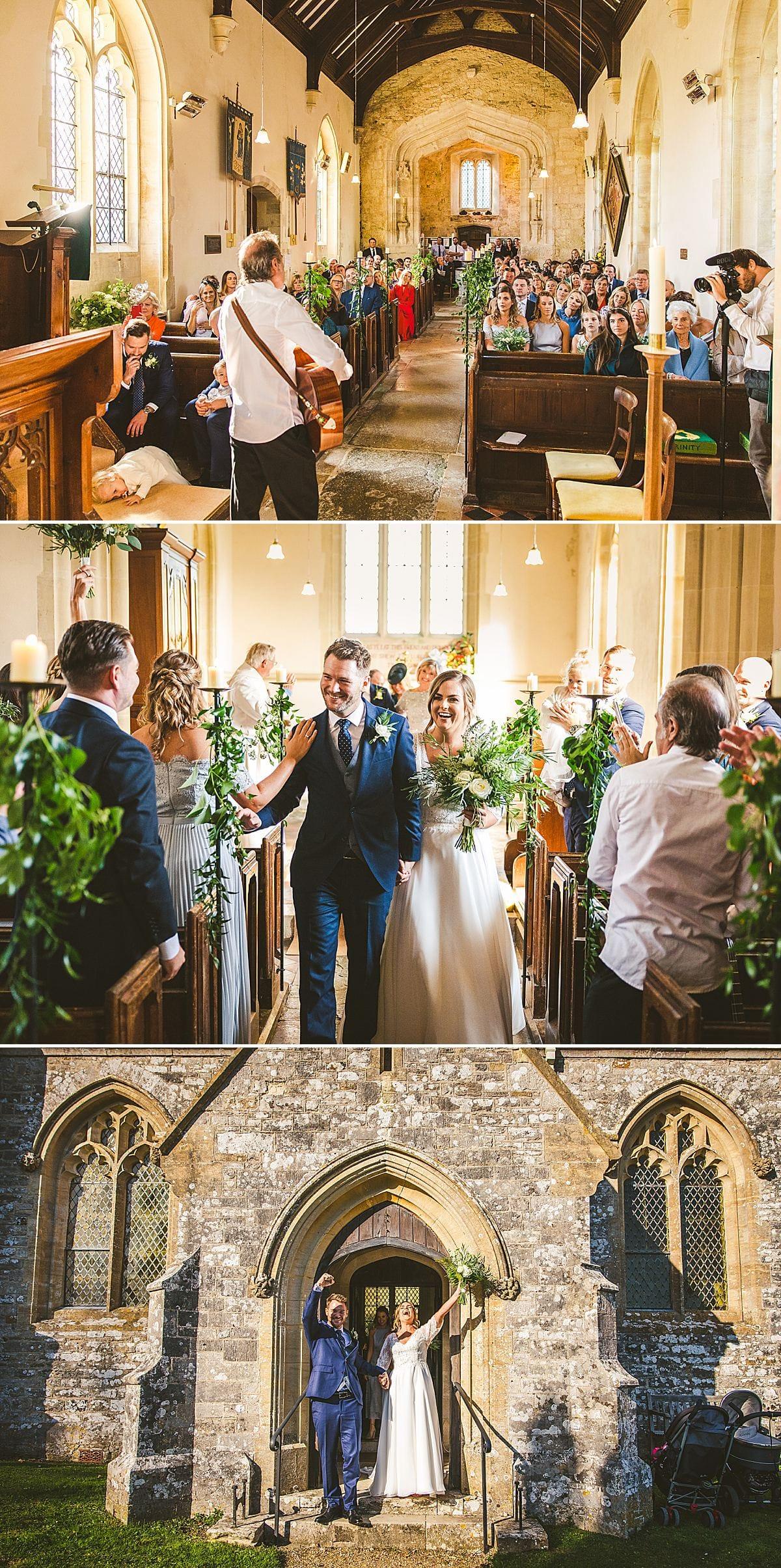 Church wedding Lulworth Castle Dorset