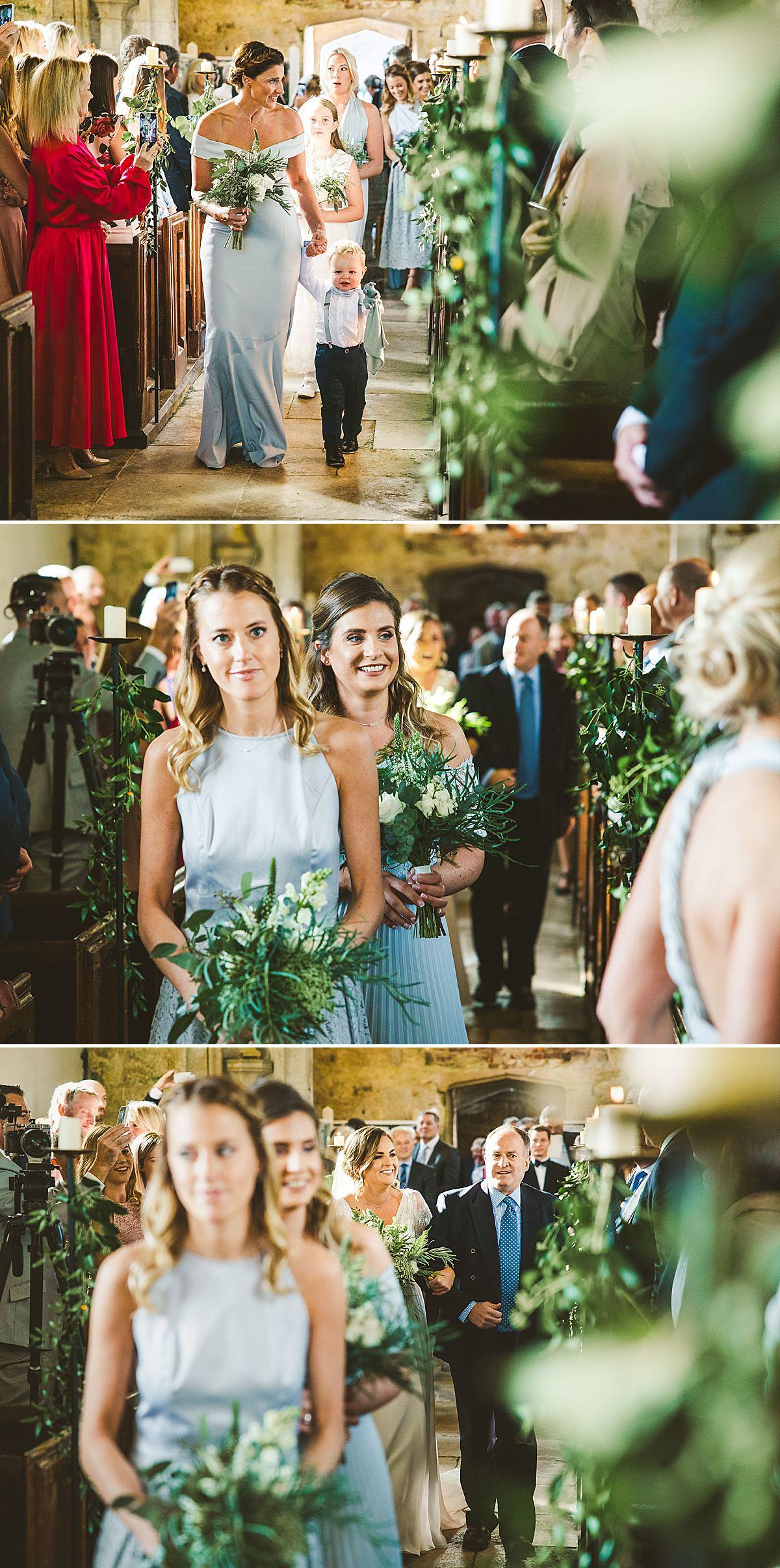 Lulworth Castle Church wedding photography