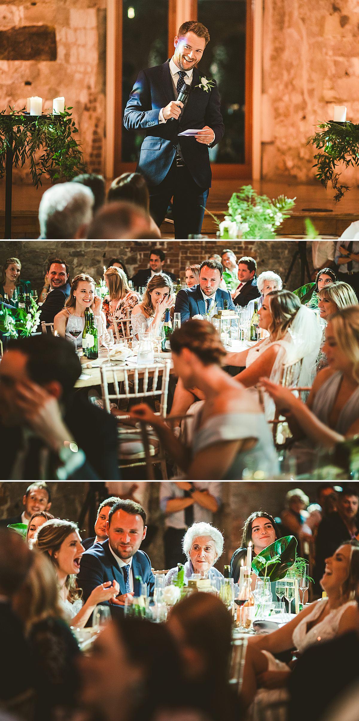 Creative documentary wedding photography Lulworth Castle