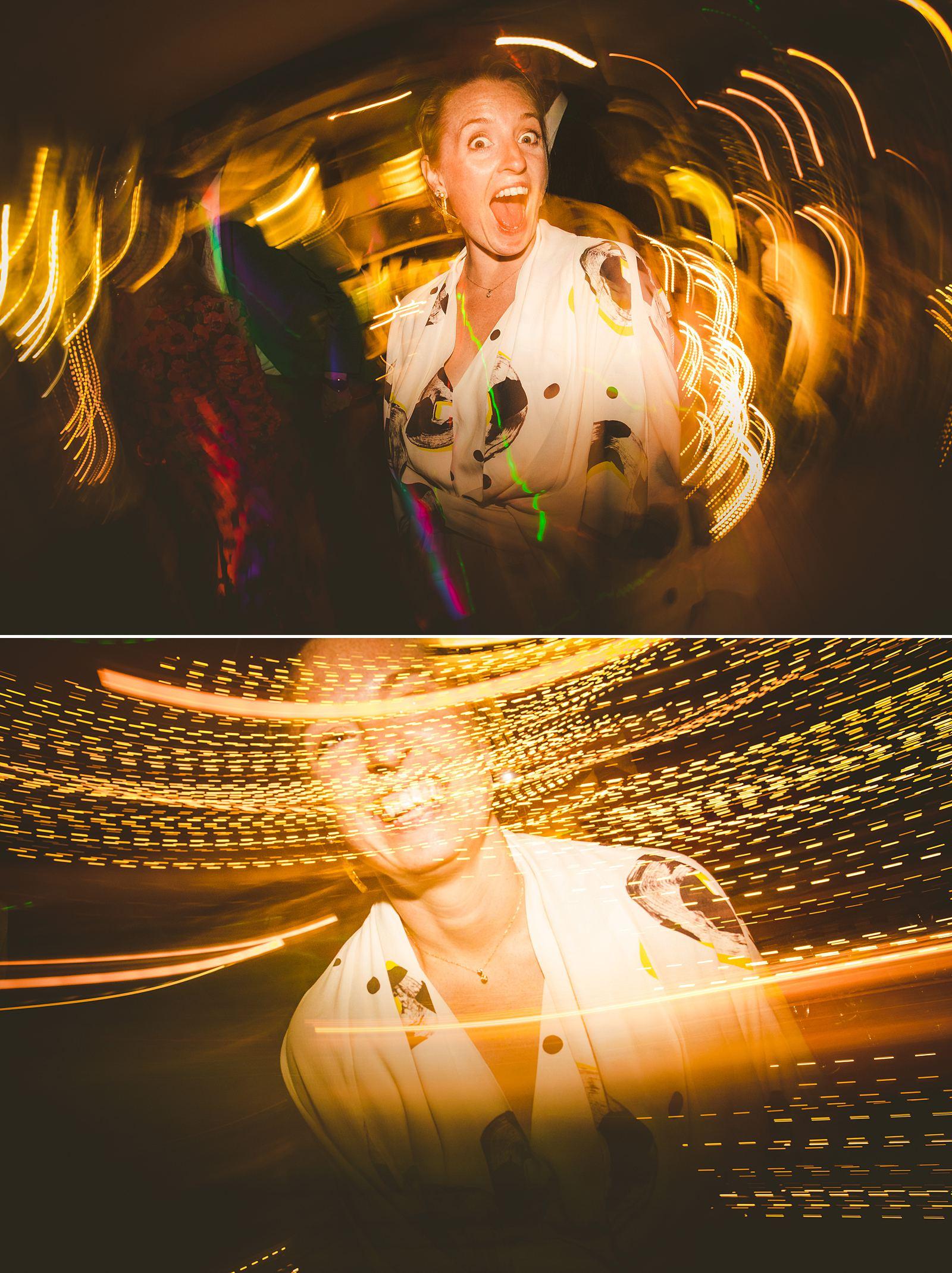 Creative wedding photography nighttime low light